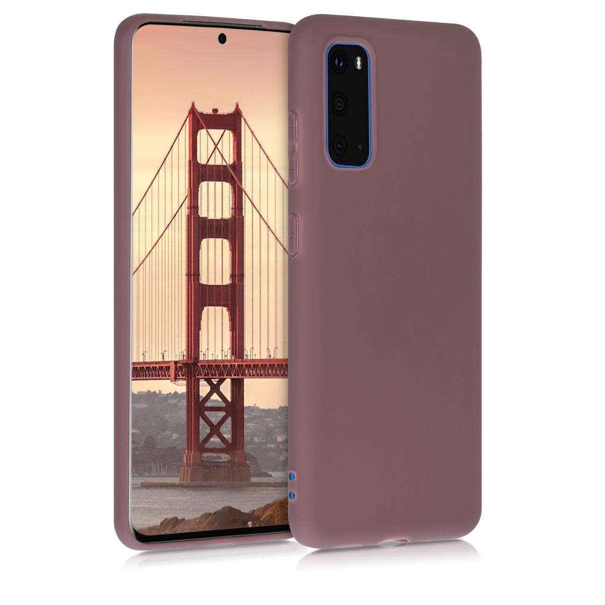 Švestkové silikonové pouzdro / obal pro Samsung S20