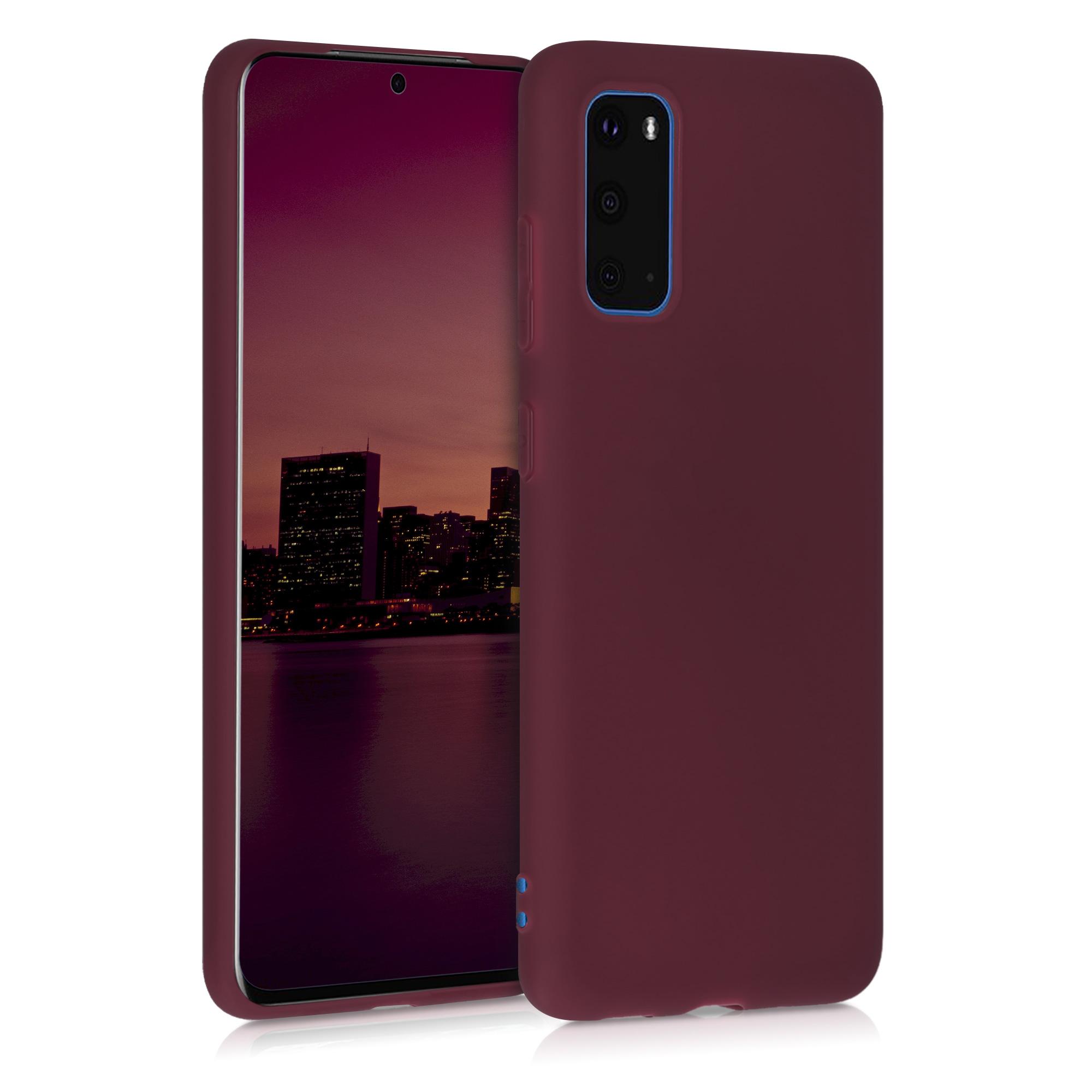 Tmavě červené silikonové pouzdro / obal pro Samsung S20