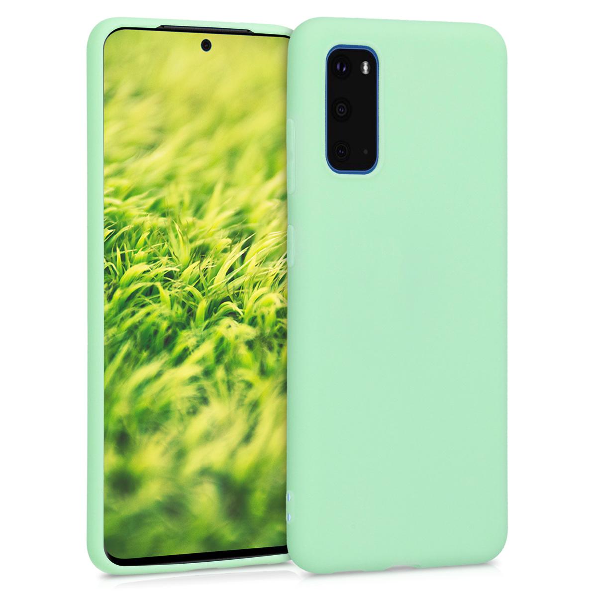Mint zelené silikonové pouzdro / obal pro Samsung S20
