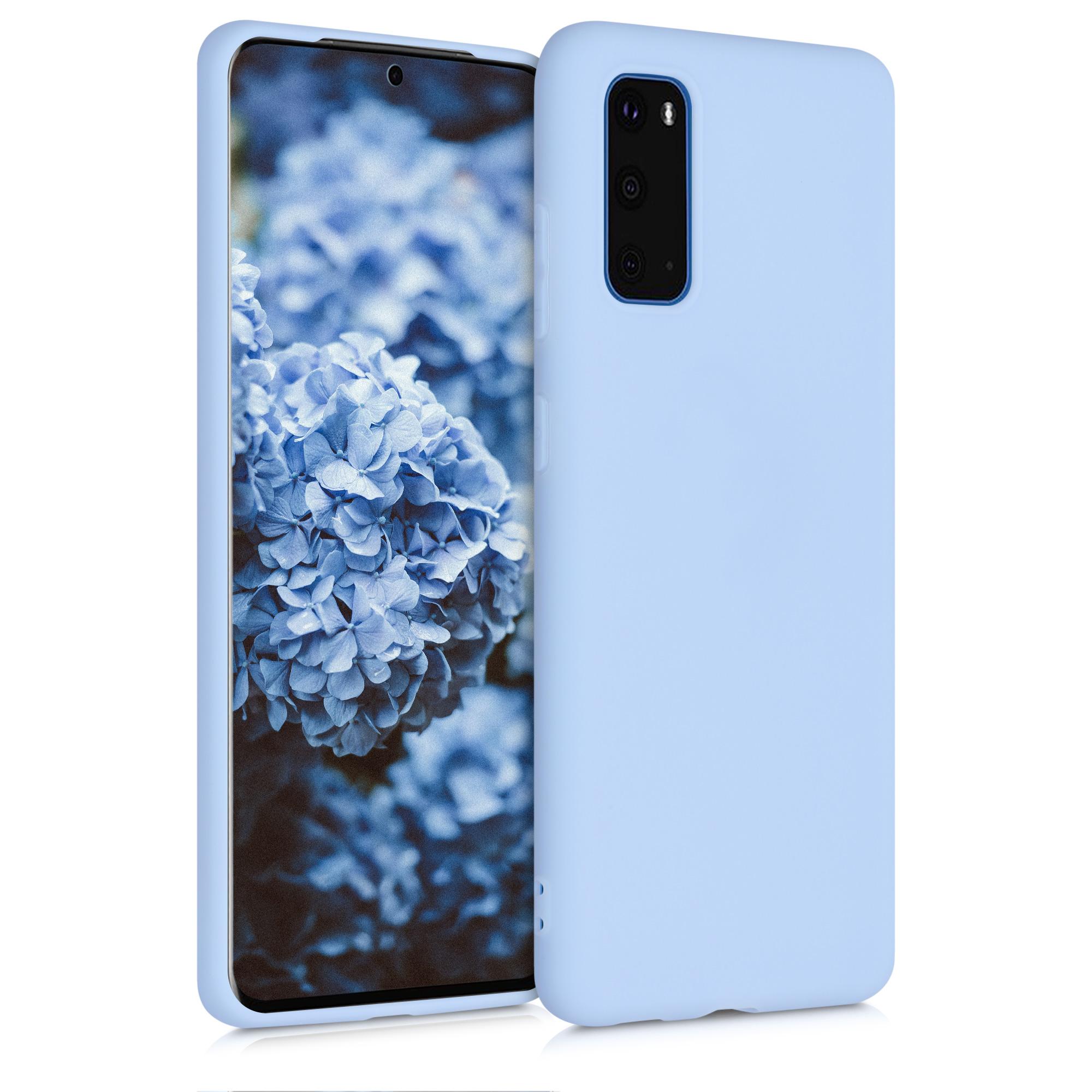 Světle modré silikonové pouzdro / obal pro Samsung S20