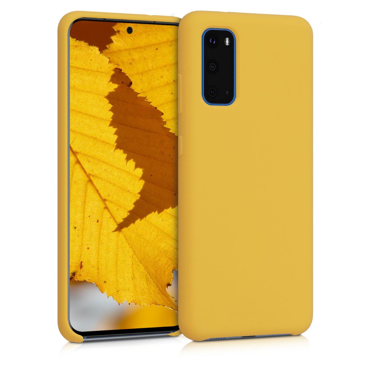 Medově žluté silikonové pouzdro / obal pro Samsung S20