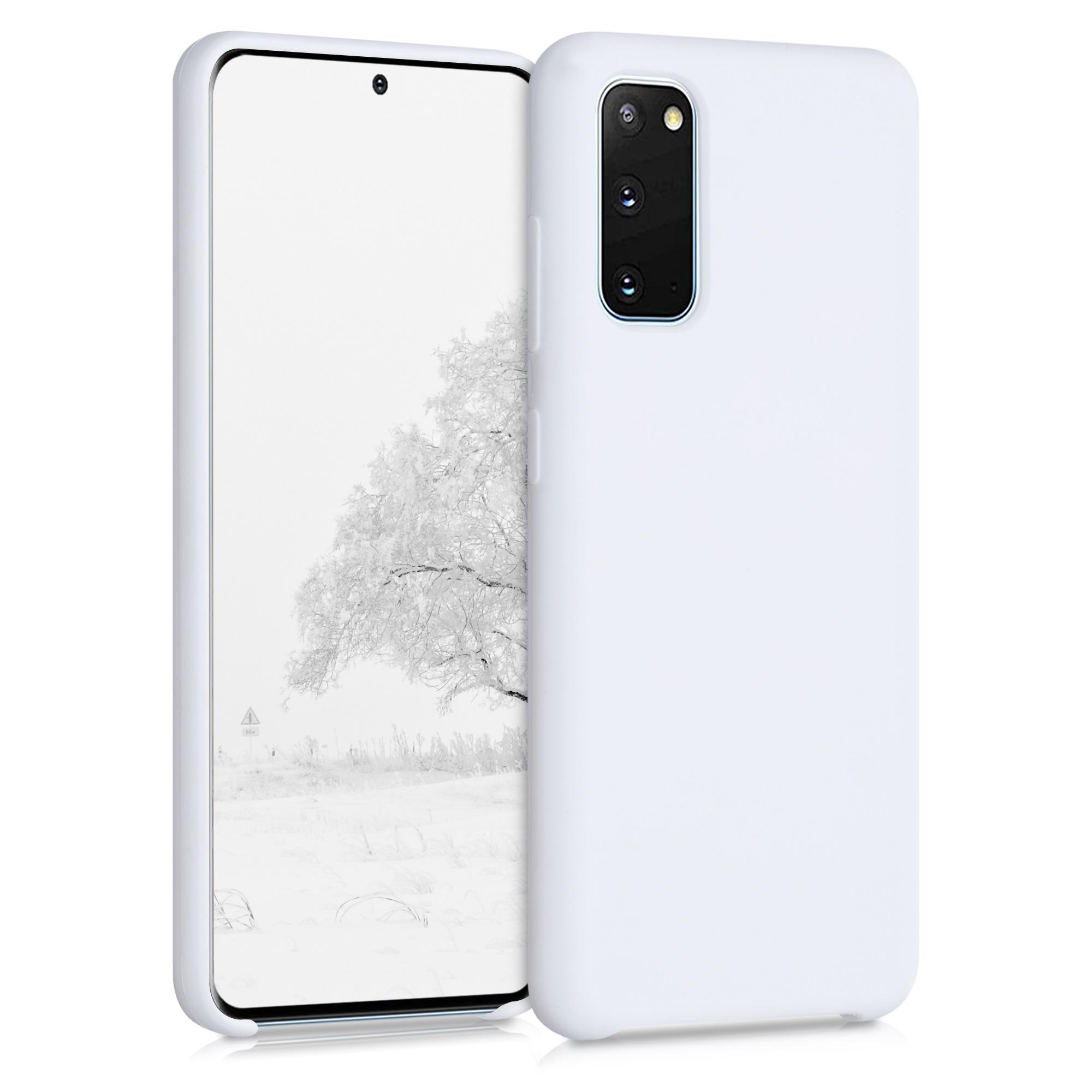 Bílé matné silikonové pouzdro / obal pro Samsung S20