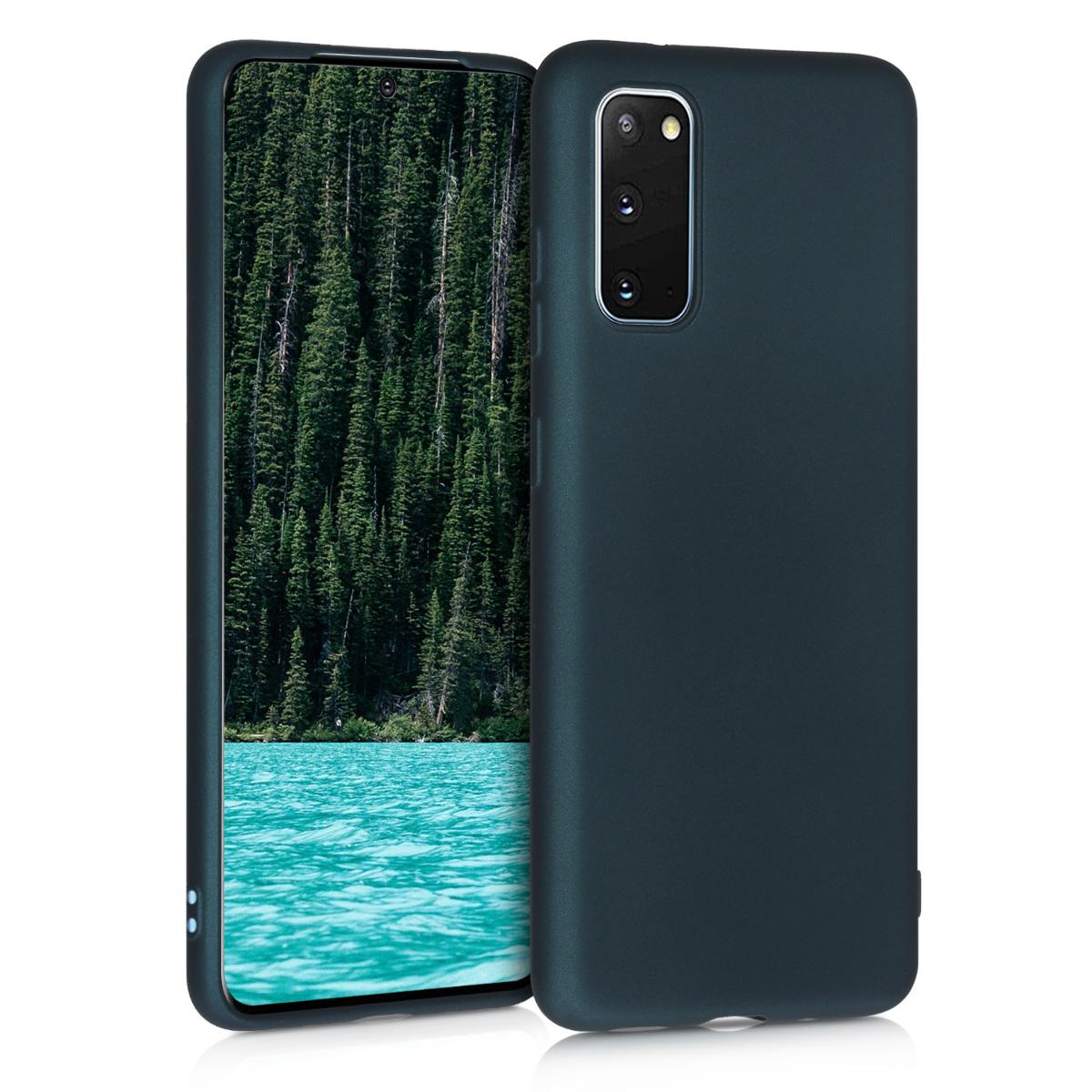 Metalické petrolejové silikonové pouzdro / obal pro Samsung S20