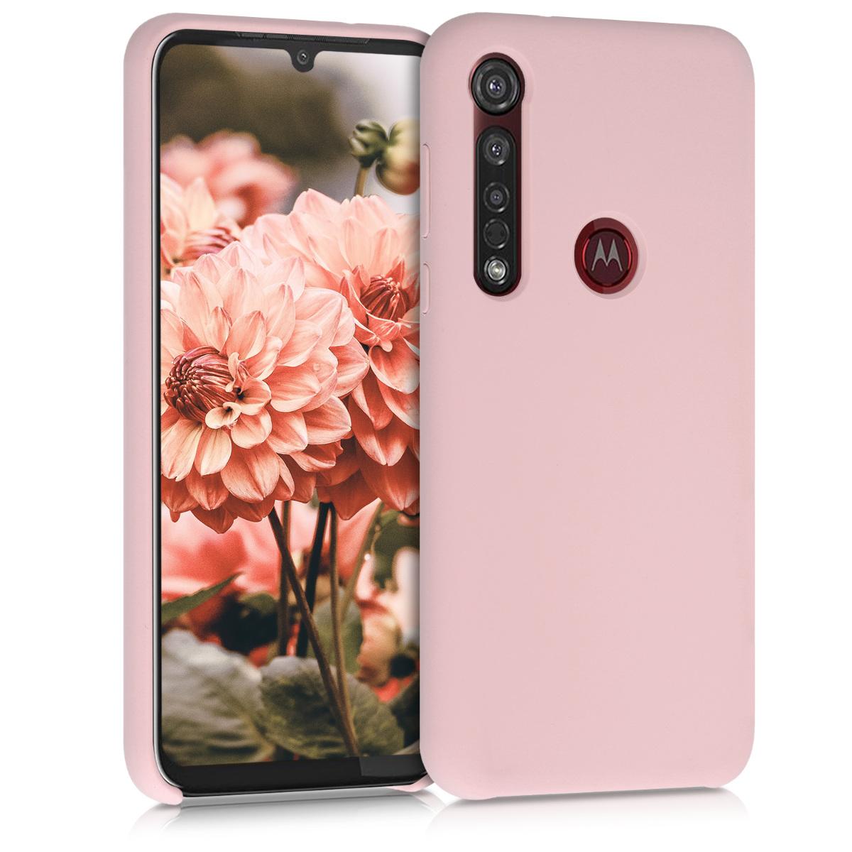 Kvalitní silikonové TPU pouzdro | obal pro Motorola Moto G8 Plus - Prašná růžová