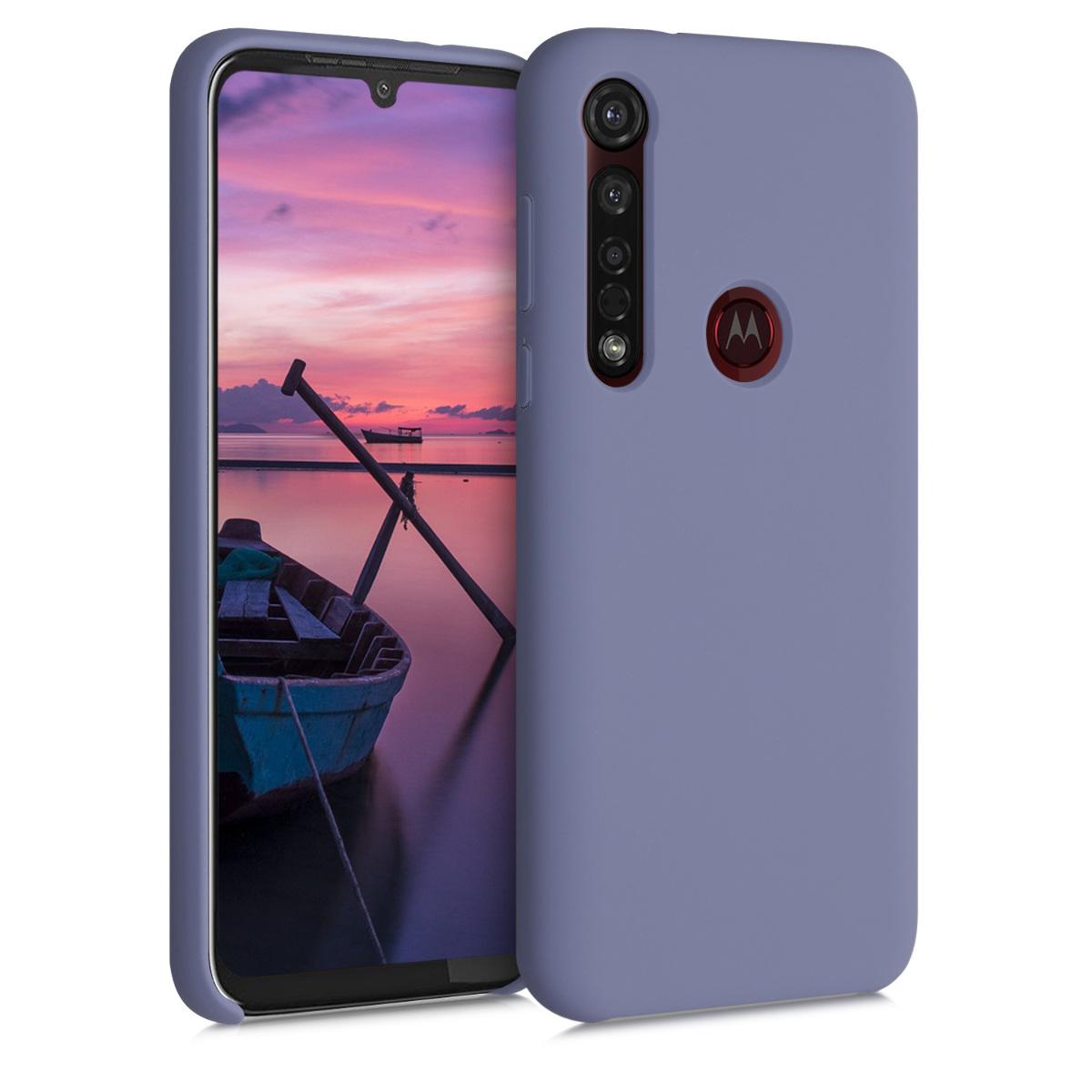 Kvalitní silikonové TPU pouzdro | obal pro Motorola Moto G8 Plus - Levandulově šedá