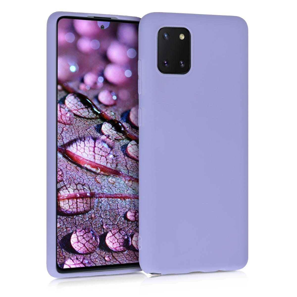 Kvalitní silikonové TPU pouzdro pro Samsung Note 10 Lite - světle  levandulové fialové