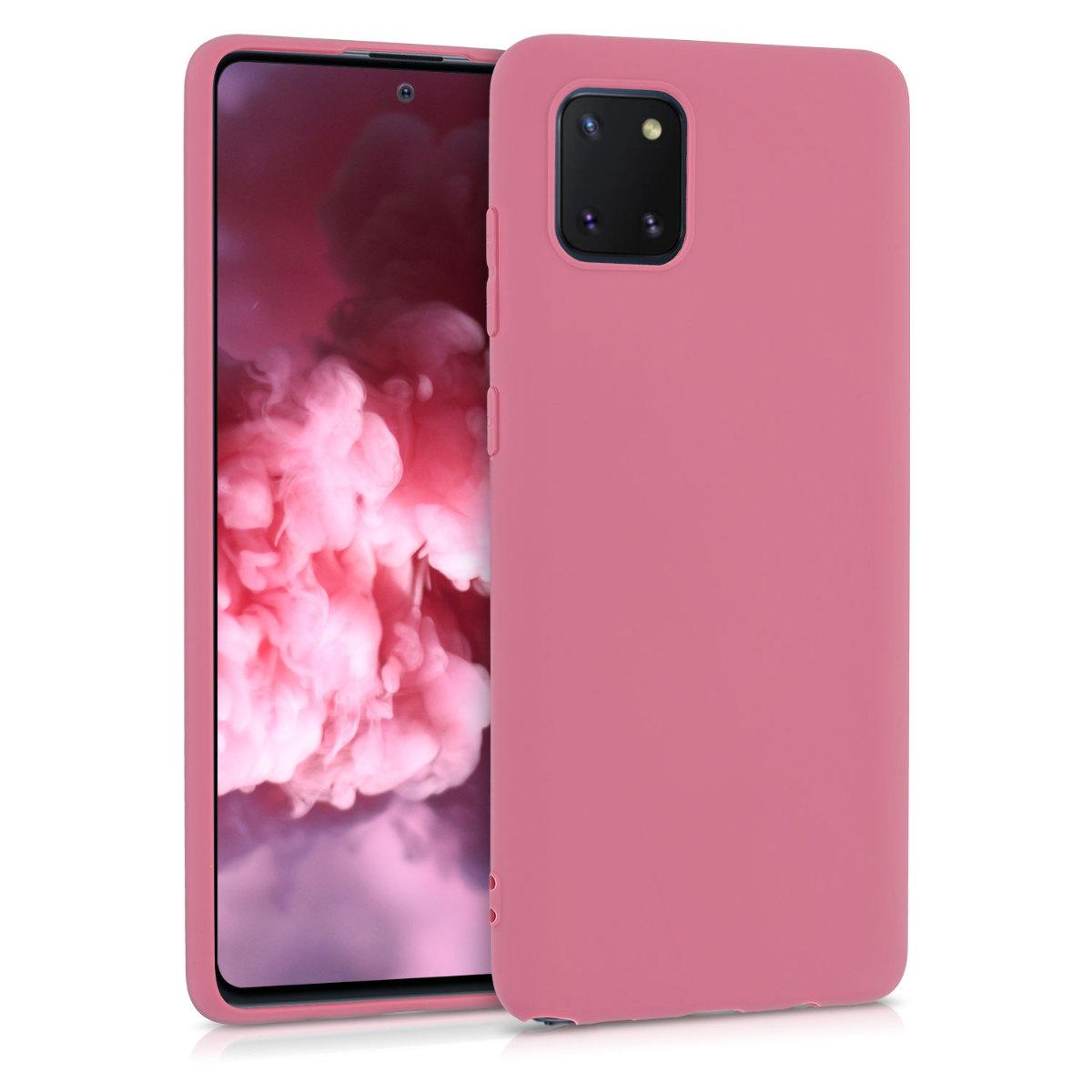 Kvalitní silikonové TPU pouzdro pro Samsung Note 10 Lite - Hluboké Rusty Rose