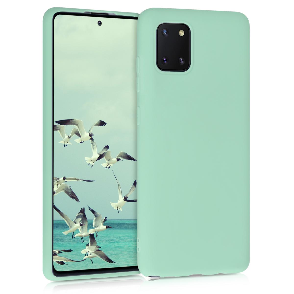 Kvalitní silikonové TPU pouzdro pro Samsung Note 10 Lite - pastelové zelené