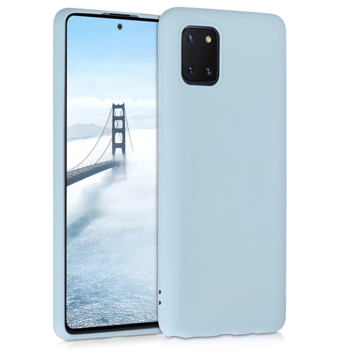 Kvalitní silikonové TPU pouzdro pro Samsung Note 10 Lite - světle  modré matné