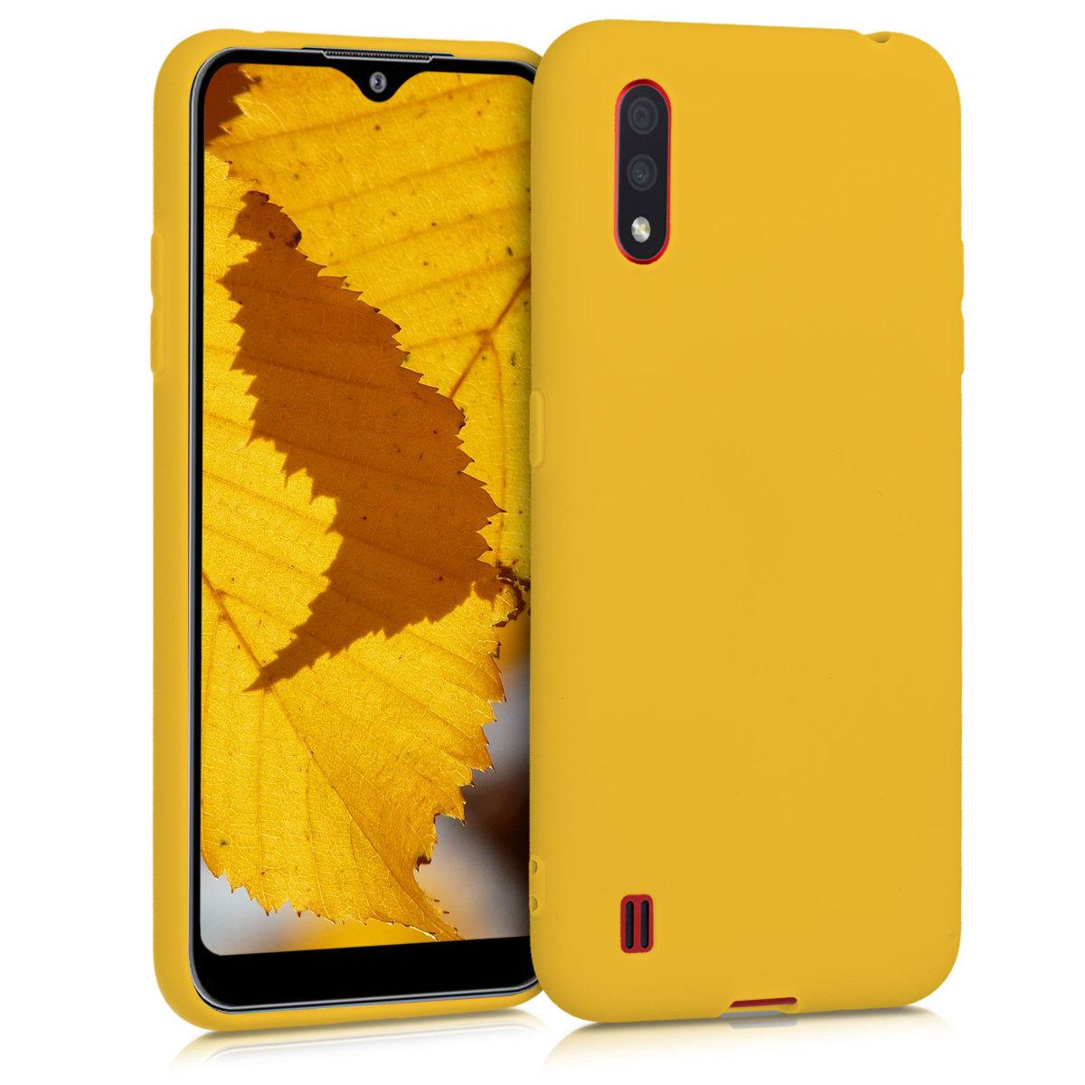 Kvalitní silikonové TPU pouzdro pro Samsung A01 - medově žluté
