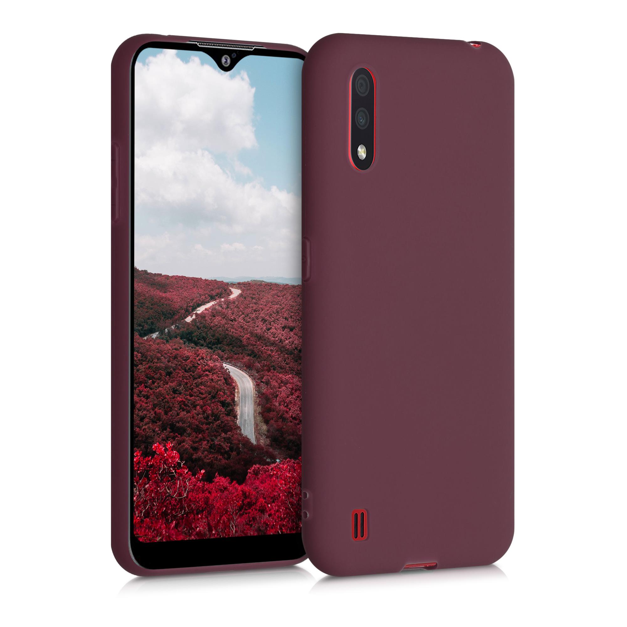 Kvalitní silikonové TPU pouzdro pro Samsung A01 - Tawny červené