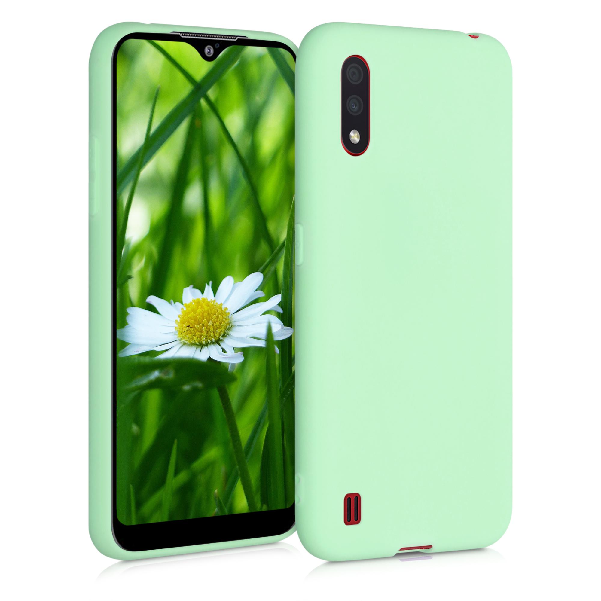 Kvalitní silikonové TPU pouzdro pro Samsung A01 - mint zelené matné