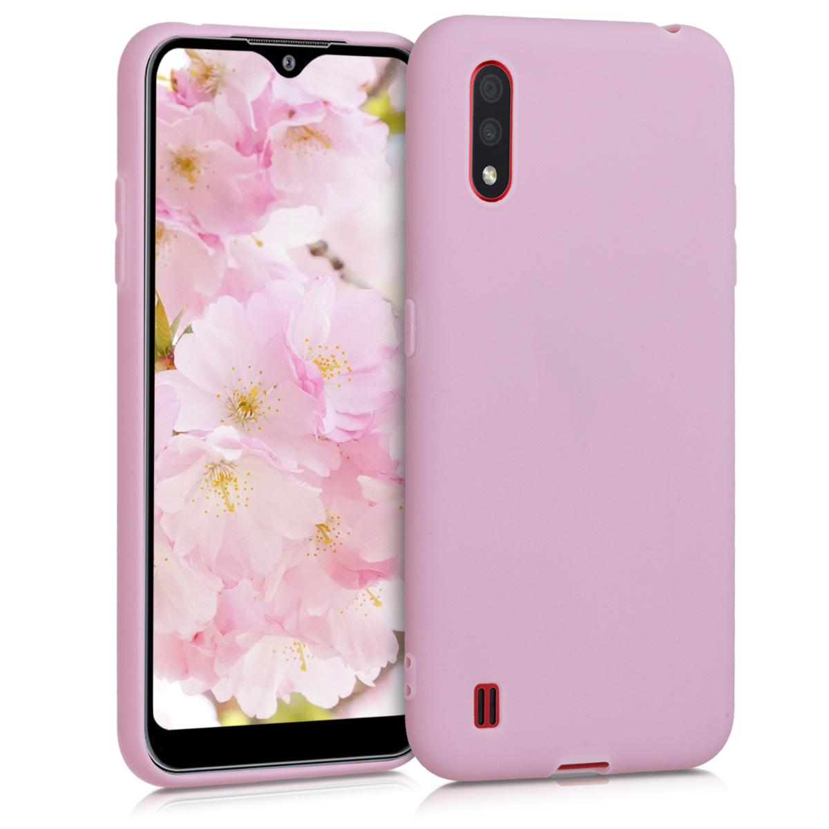 Kvalitní silikonové TPU pouzdro pro Samsung A01 - Antique růžové matné