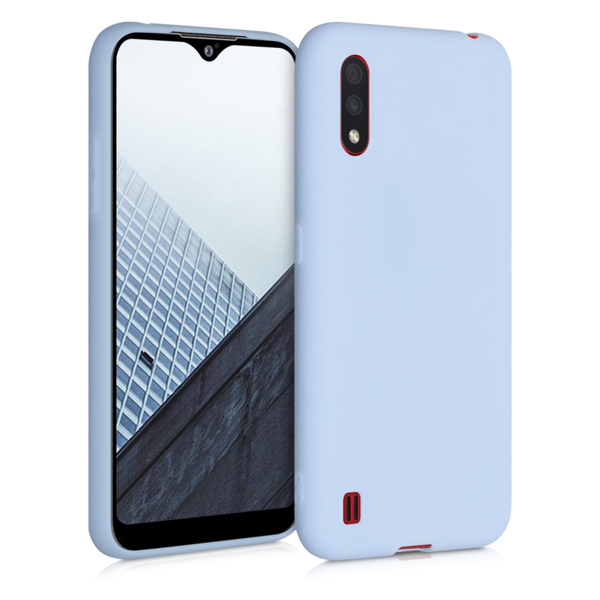 Kvalitní silikonové TPU pouzdro pro Samsung A01 - světle  modré matné
