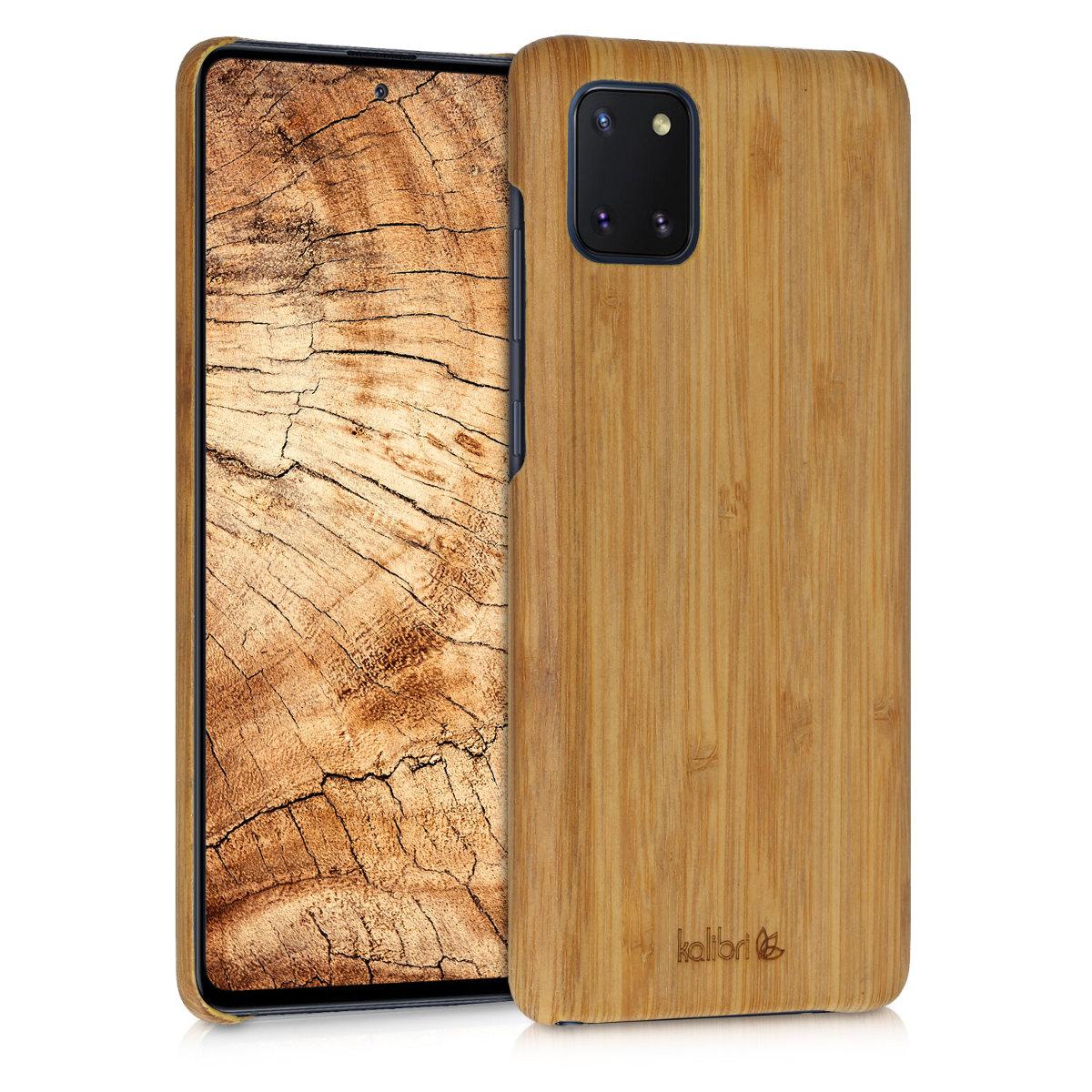 Luxusní světlé dřevěné pouzdro | obal pro Samsung Galaxy Note 10 Lite