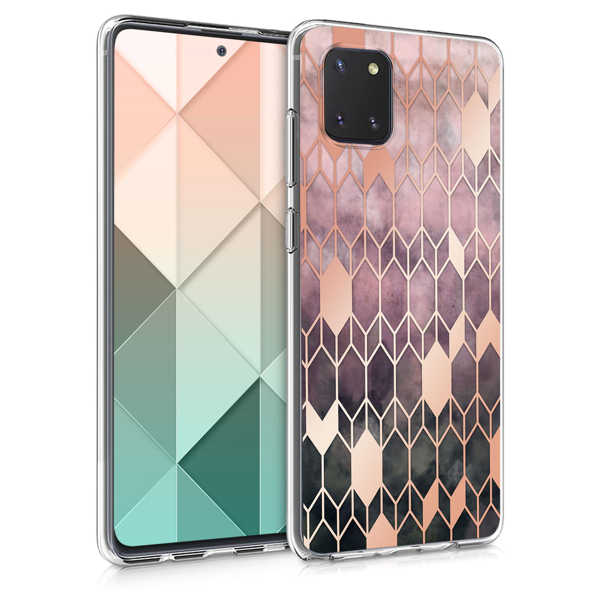 Kvalitní silikonové TPU pouzdro pro Samsung Note 10 Lite - Glory tmavě růžové / starorůžové rosegold