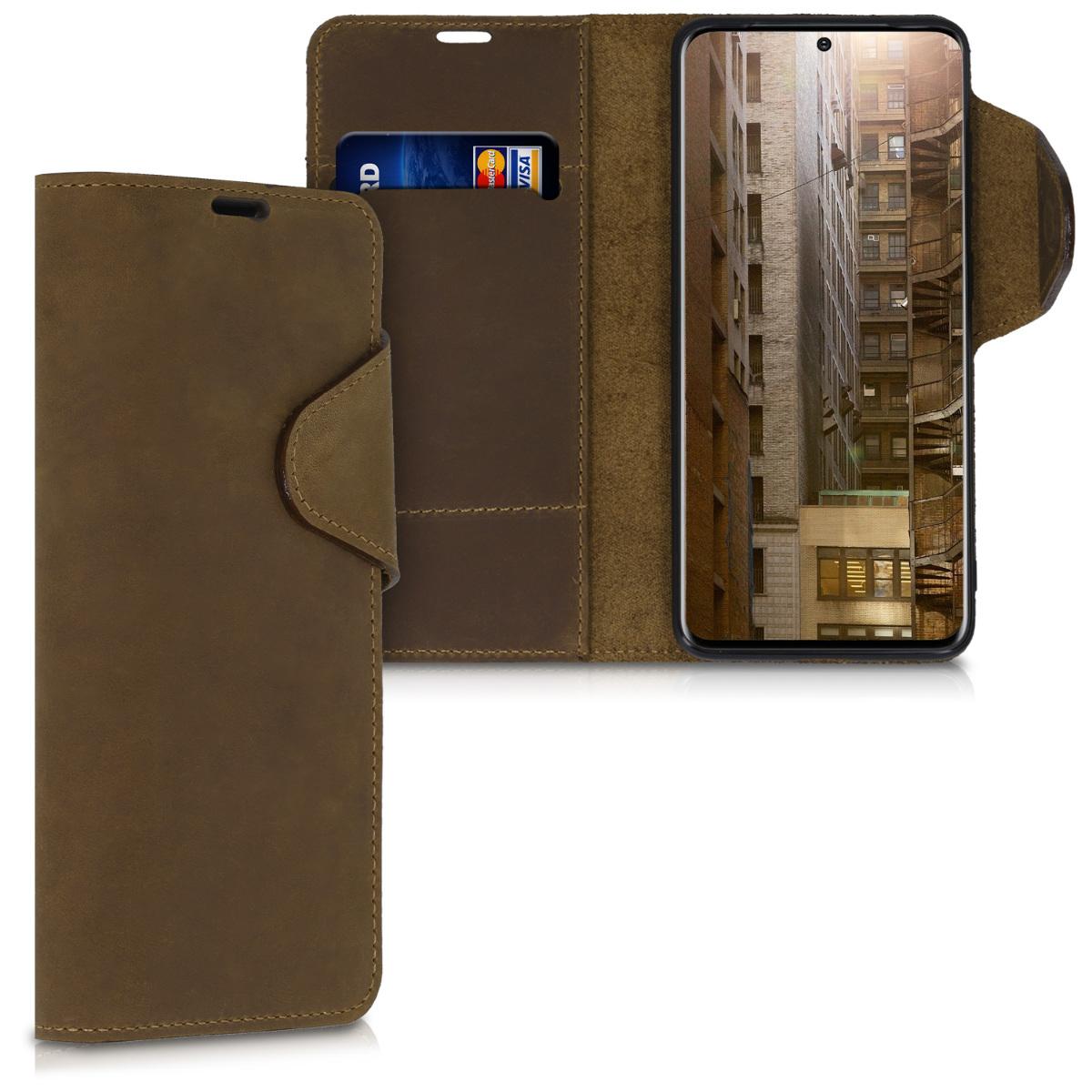 Kožené pouzdro / obal pro Samsung S20 jako peněženka