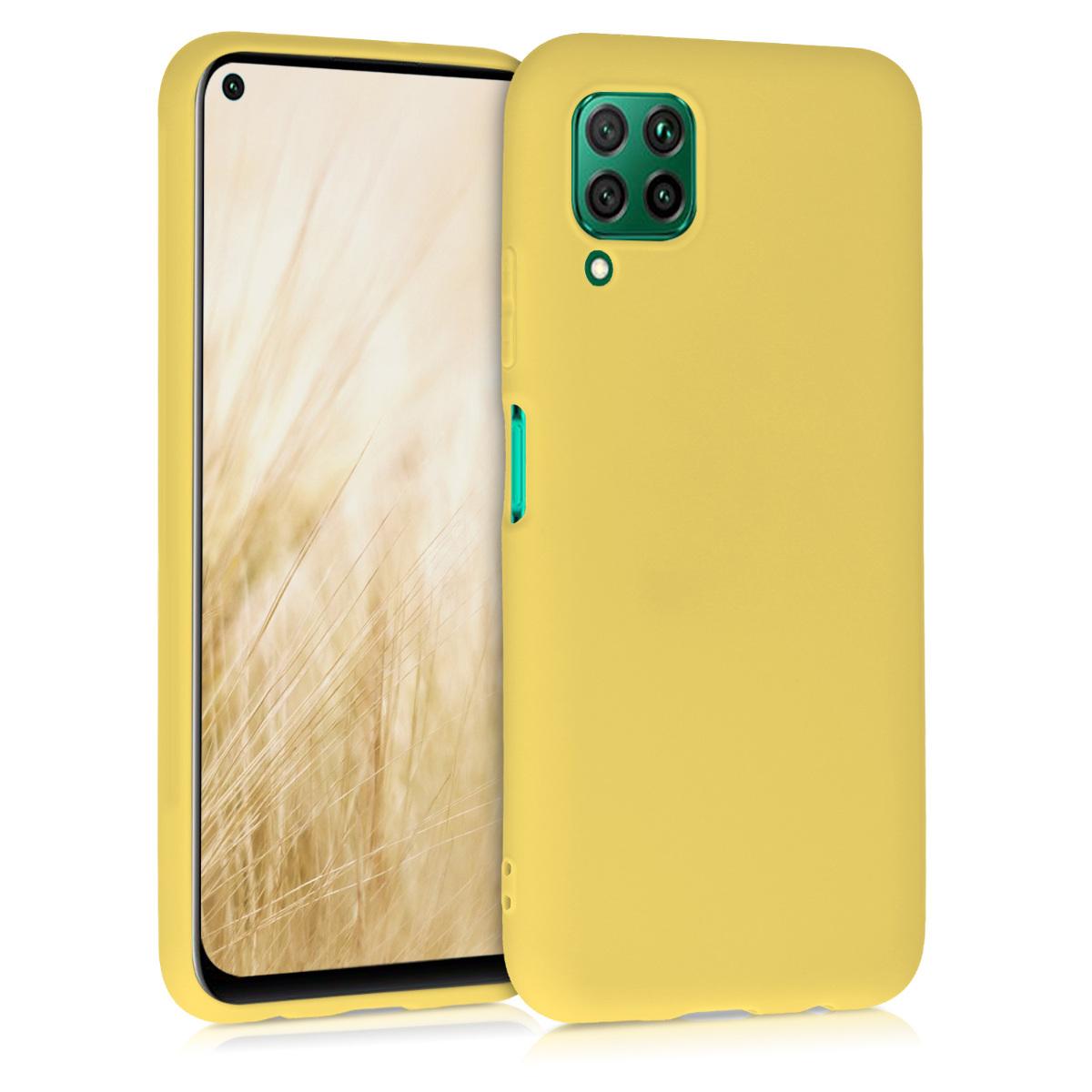 Matné žluté silikonové pouzdro / obal pro Huawei P40 Lite