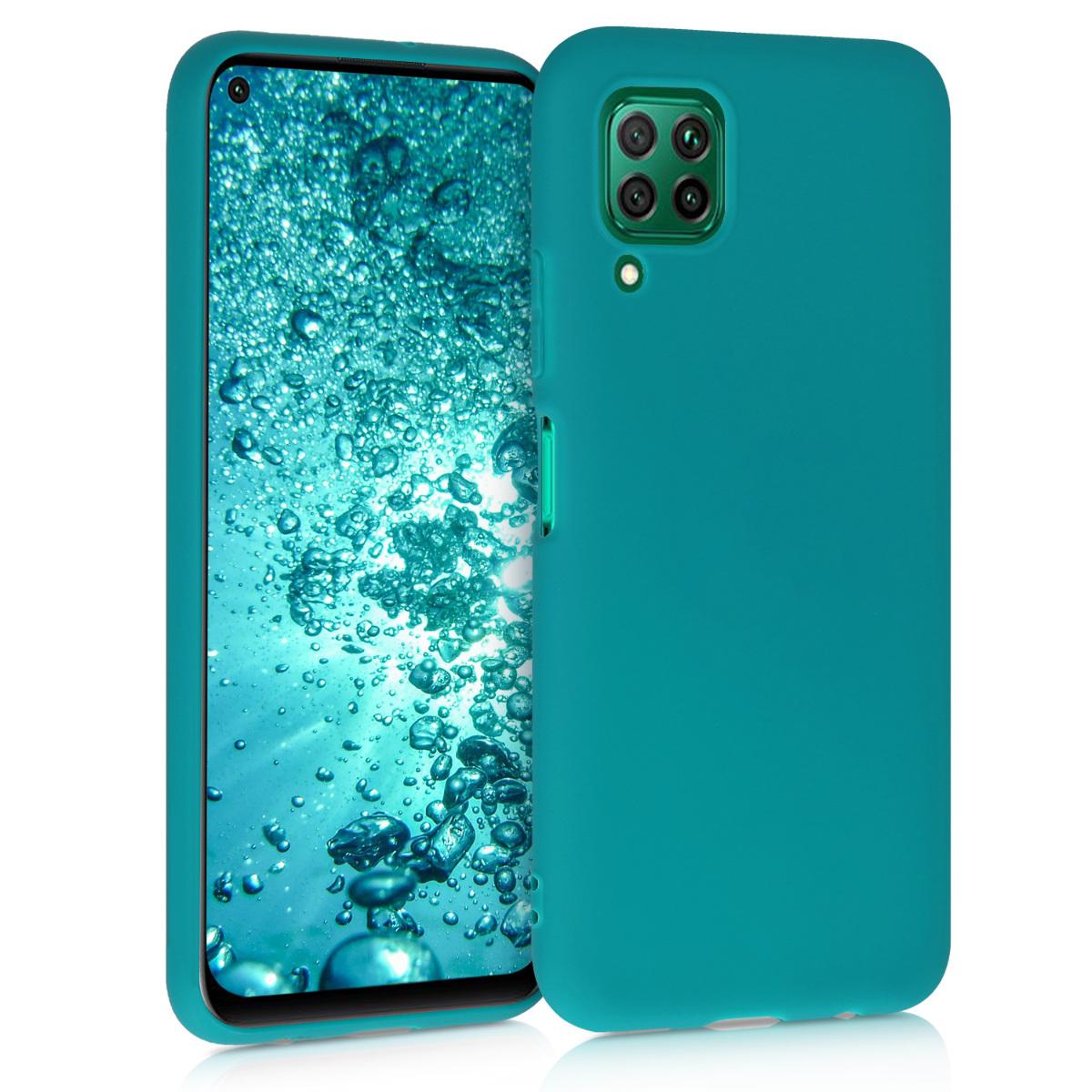Tyrkysové modré silikonové pouzdro / obal pro Huawei P40 Lite