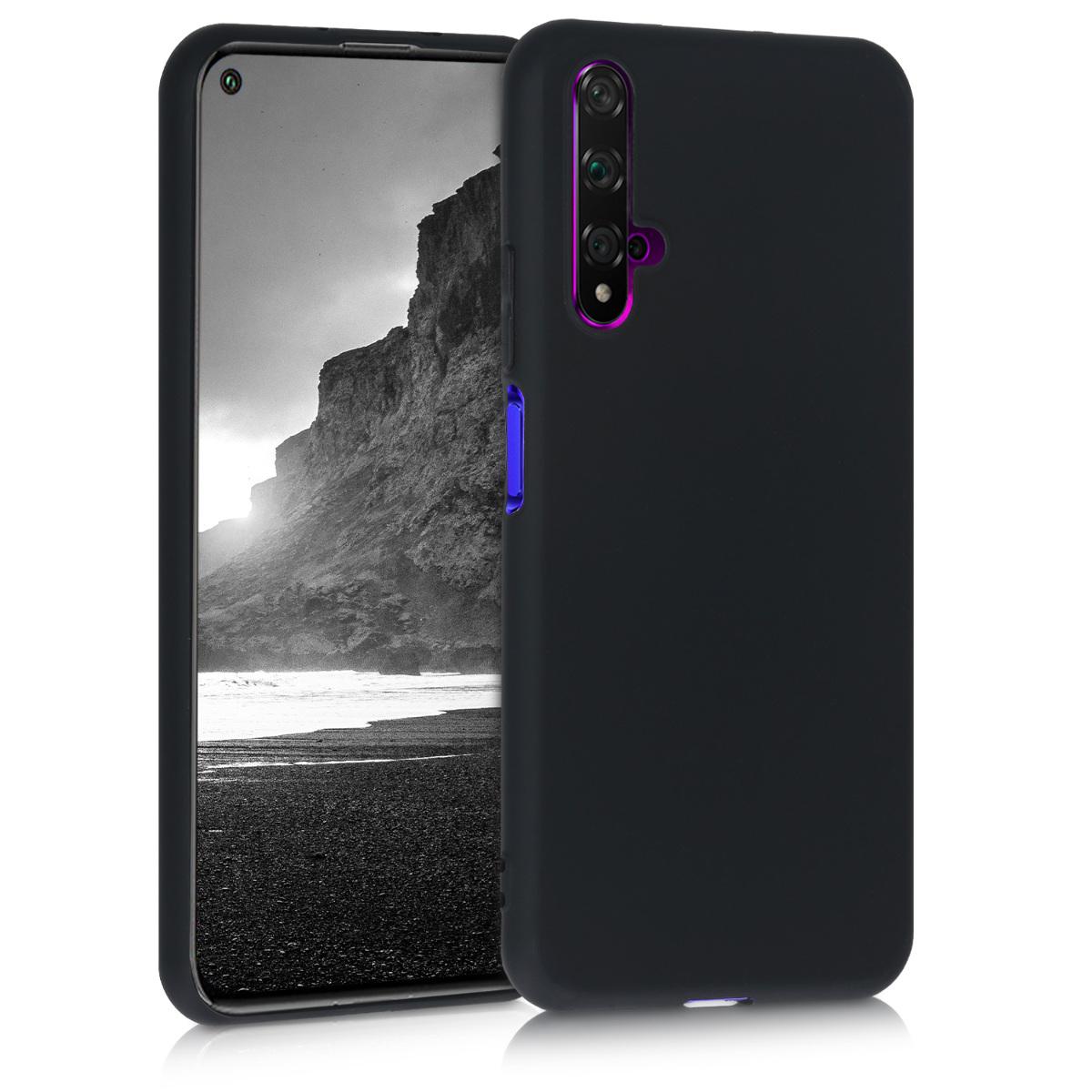 Černé silikonové pouzdro / obal pro Huawei Nova 5T