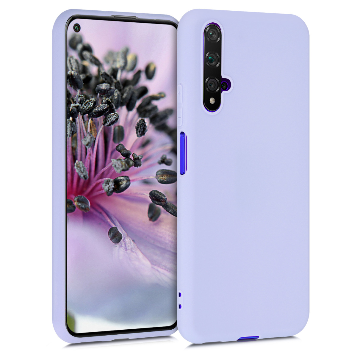 Levandulové fialové silikonové pouzdro / obal pro Huawei Nova 5T