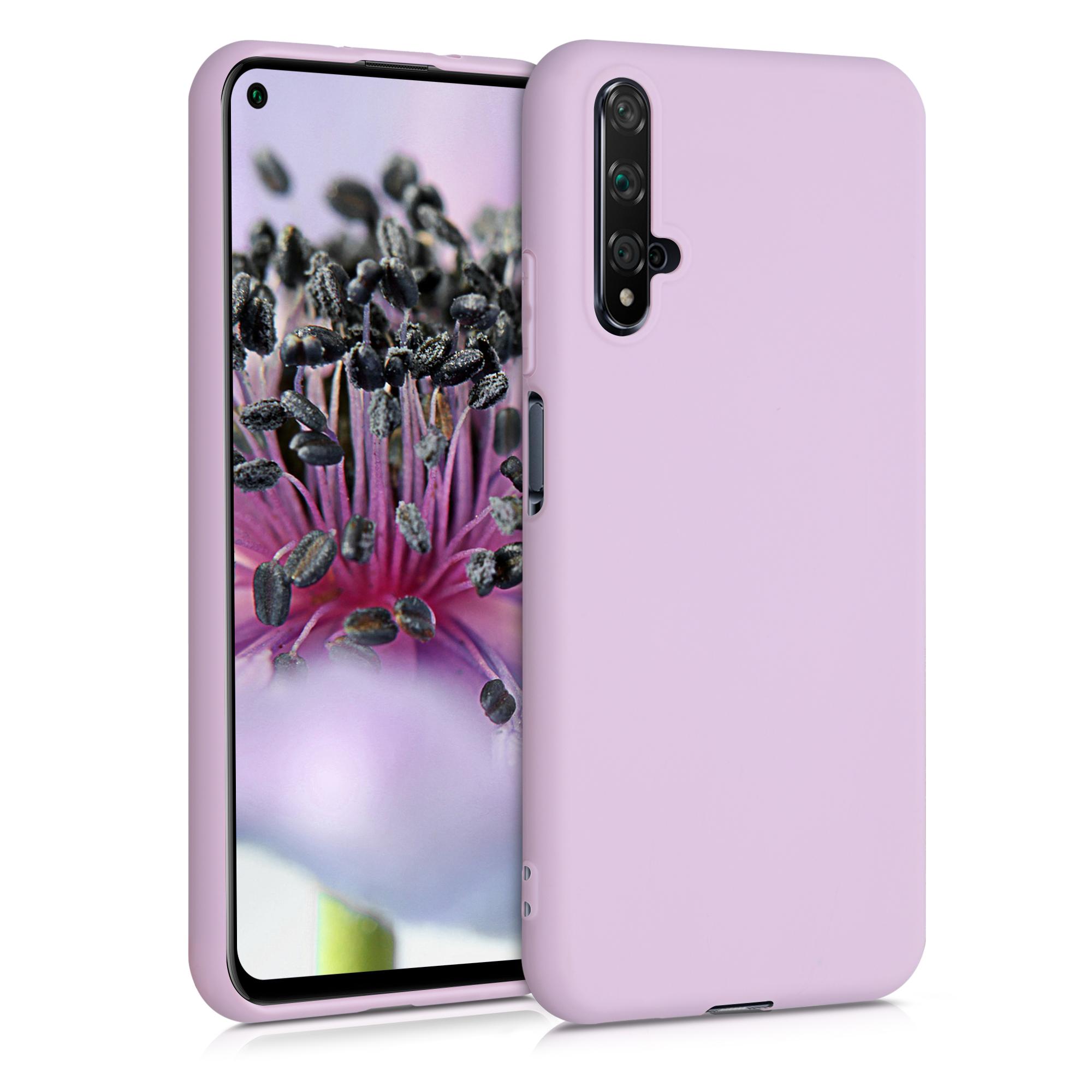 Světle fialové silikonové pouzdro / obal pro Huawei Nova 5T