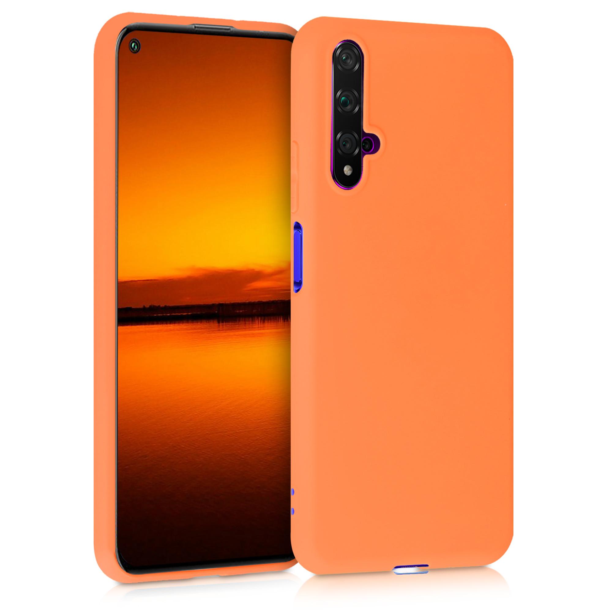 Oranžové silikonové pouzdro / obal pro Huawei Nova 5T