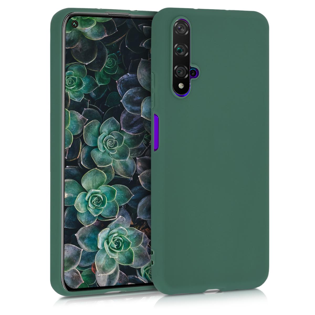 Tmavě zelené silikonové pouzdro / obal pro Huawei Nova 5T