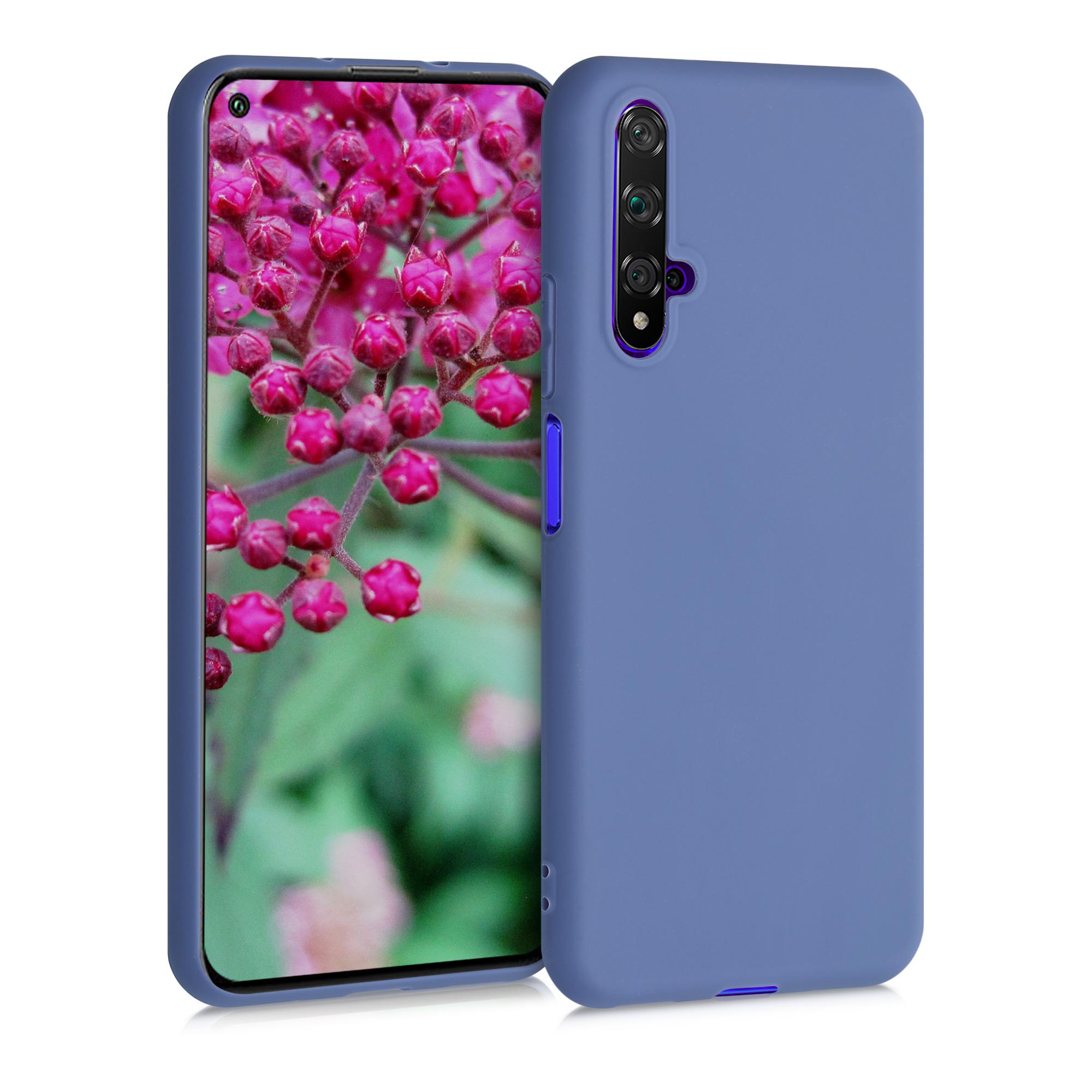 Liliově fialové silikonové pouzdro / obal pro Huawei Nova 5T
