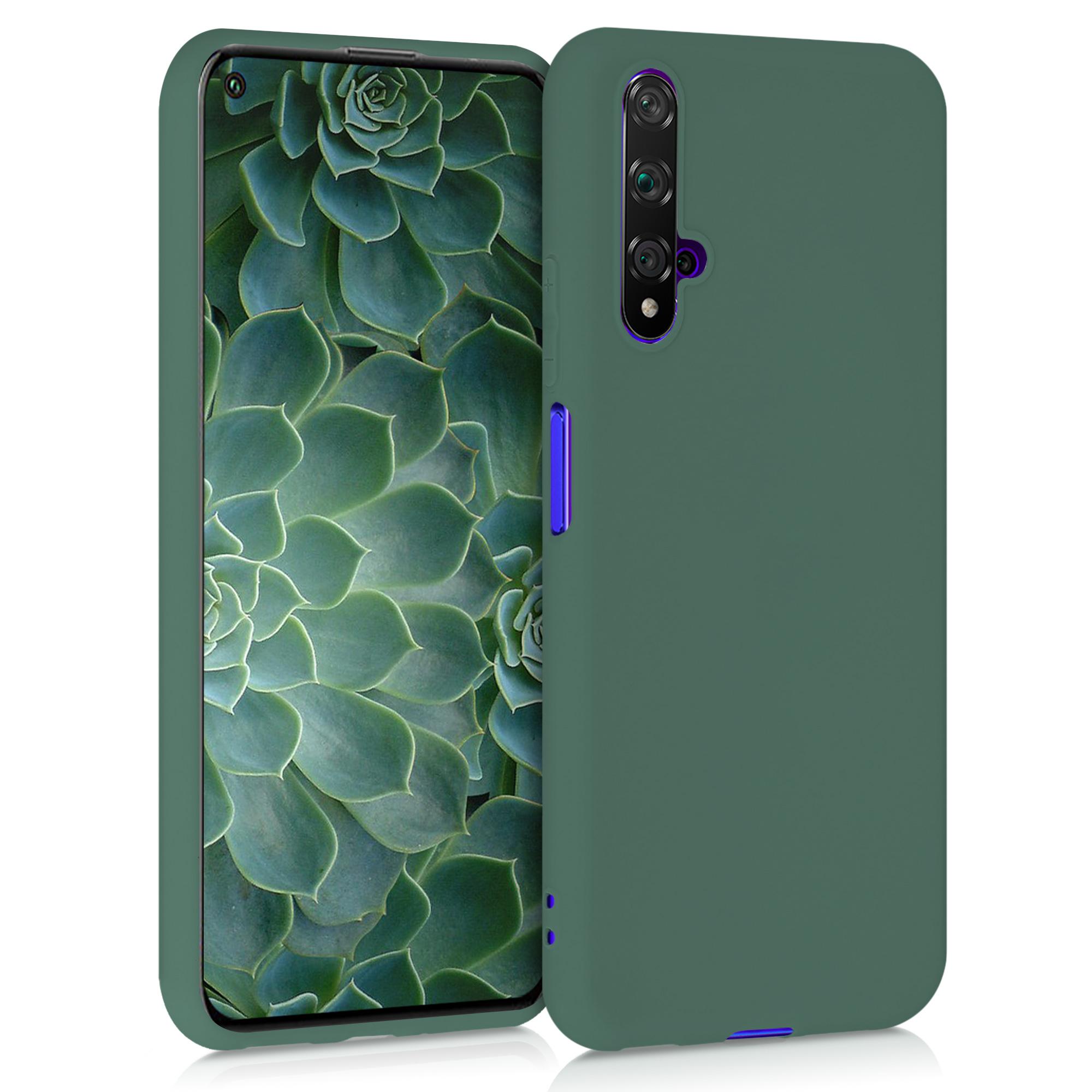 Modrozelené silikonové pouzdro / obal pro Huawei Nova 5T