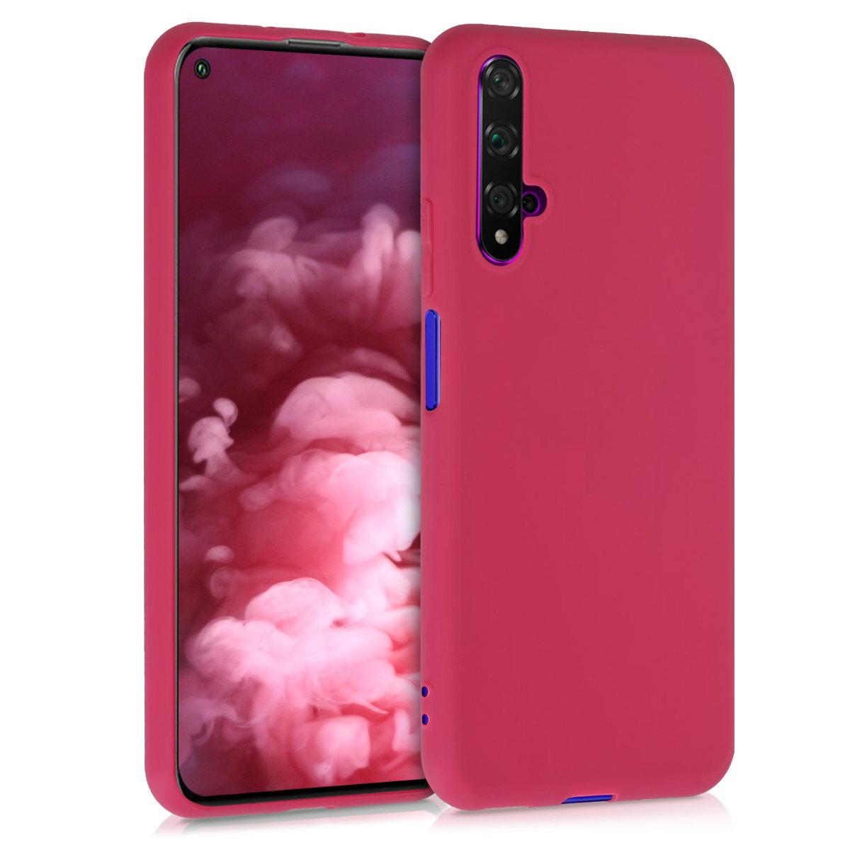 Červené granátové jablko silikonové pouzdro / obal pro Huawei Nova 5T