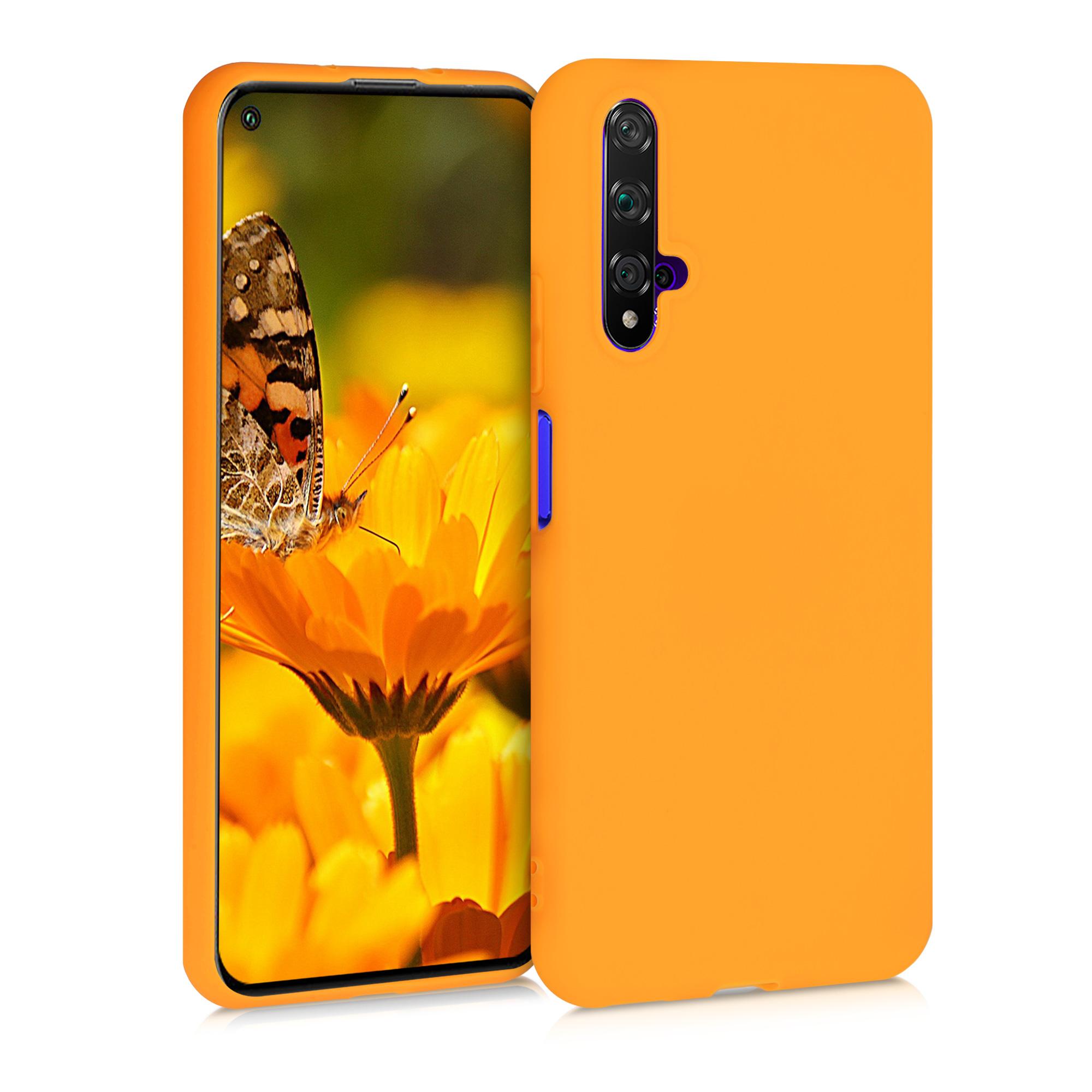 Śafránově žluté silikonové pouzdro / obal pro Huawei Nova 5T