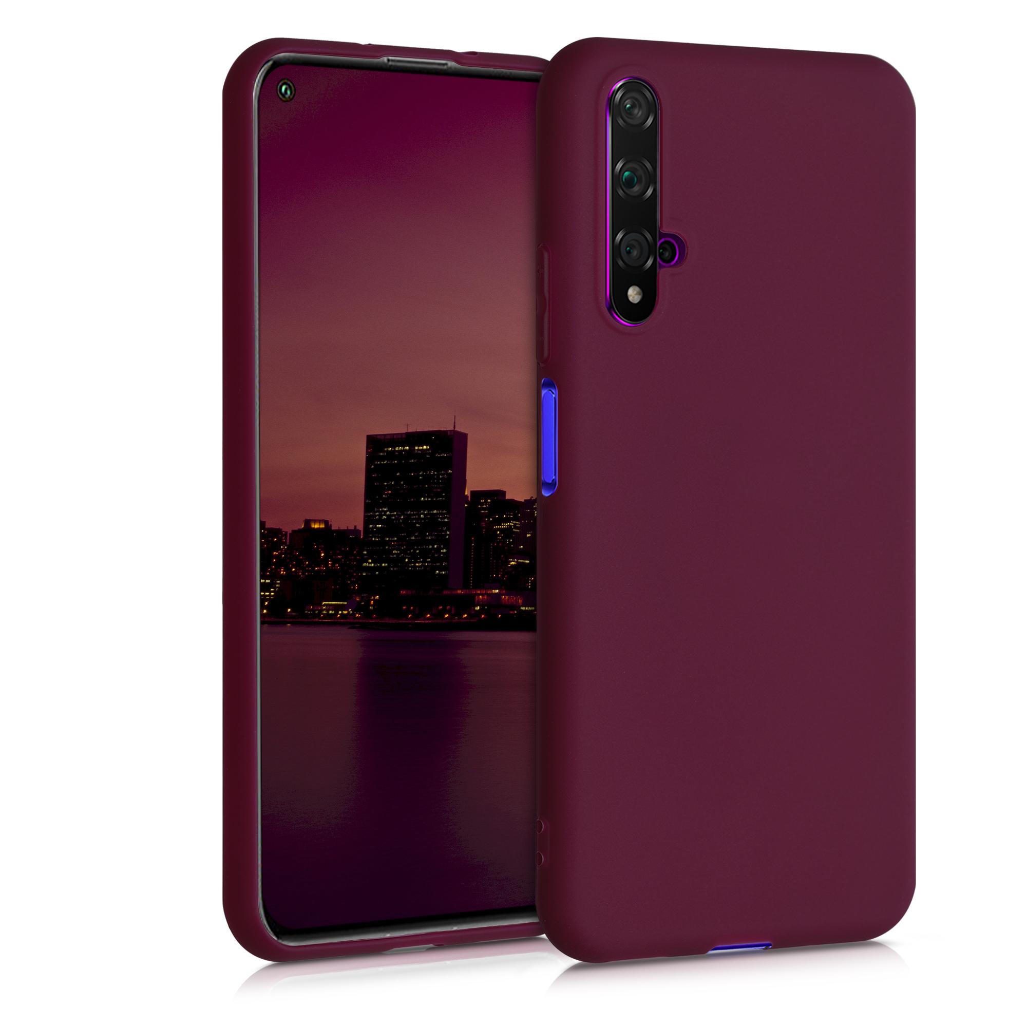 Vínové silikonové pouzdro / obal pro Huawei Nova 5T