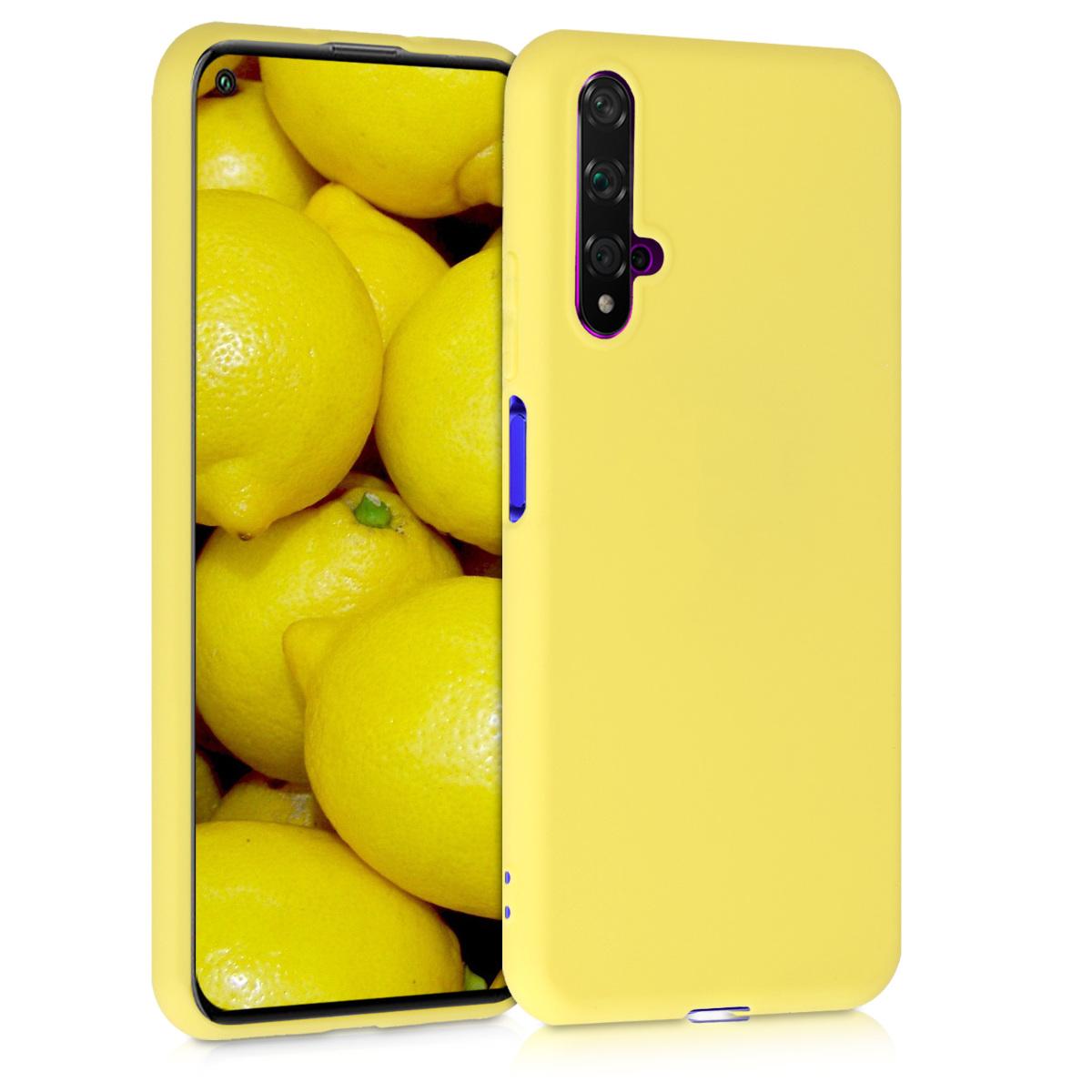 Žluté silikonové pouzdro / obal pro Huawei Nova 5T