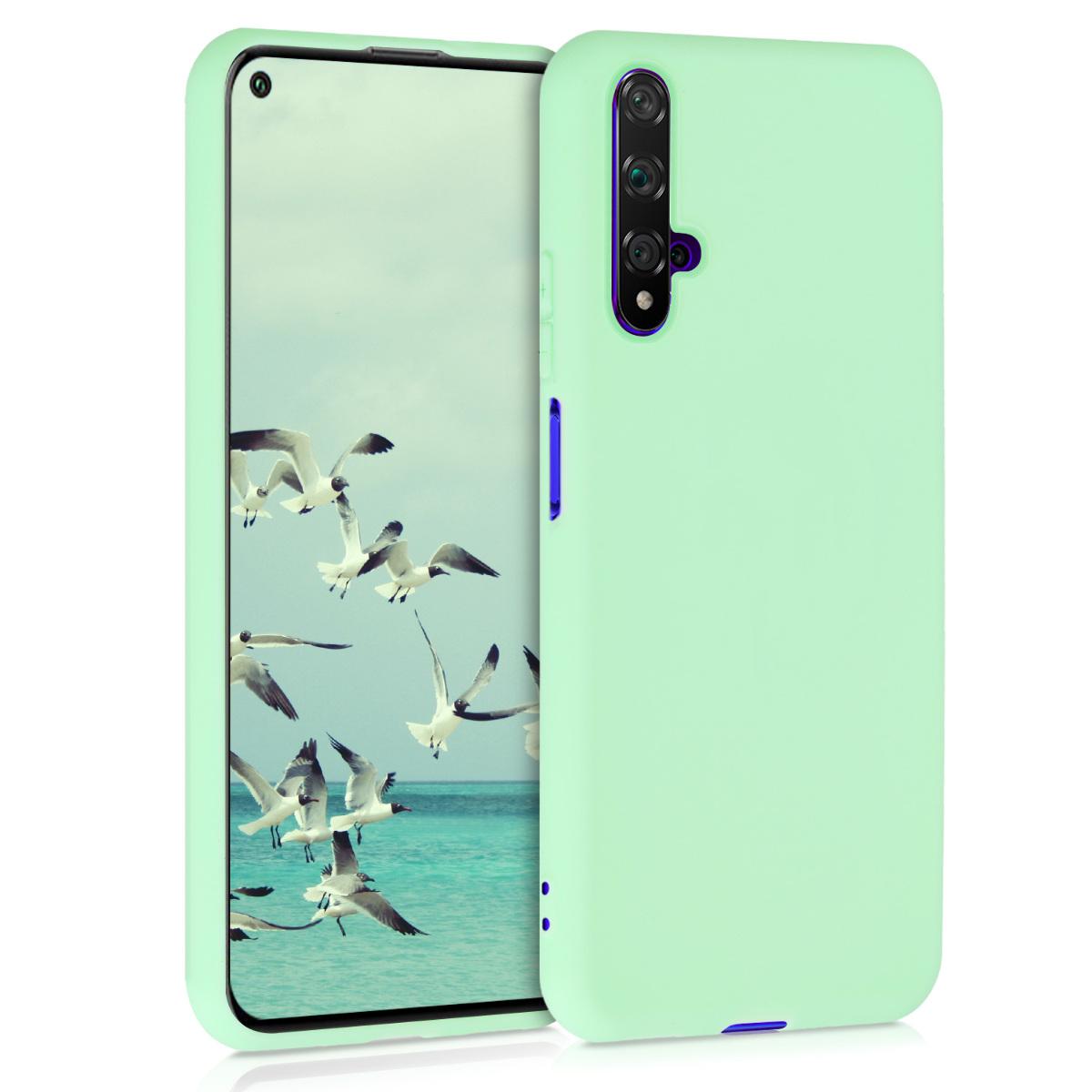 Mint zelené silikonové pouzdro / obal pro Huawei Nova 5T