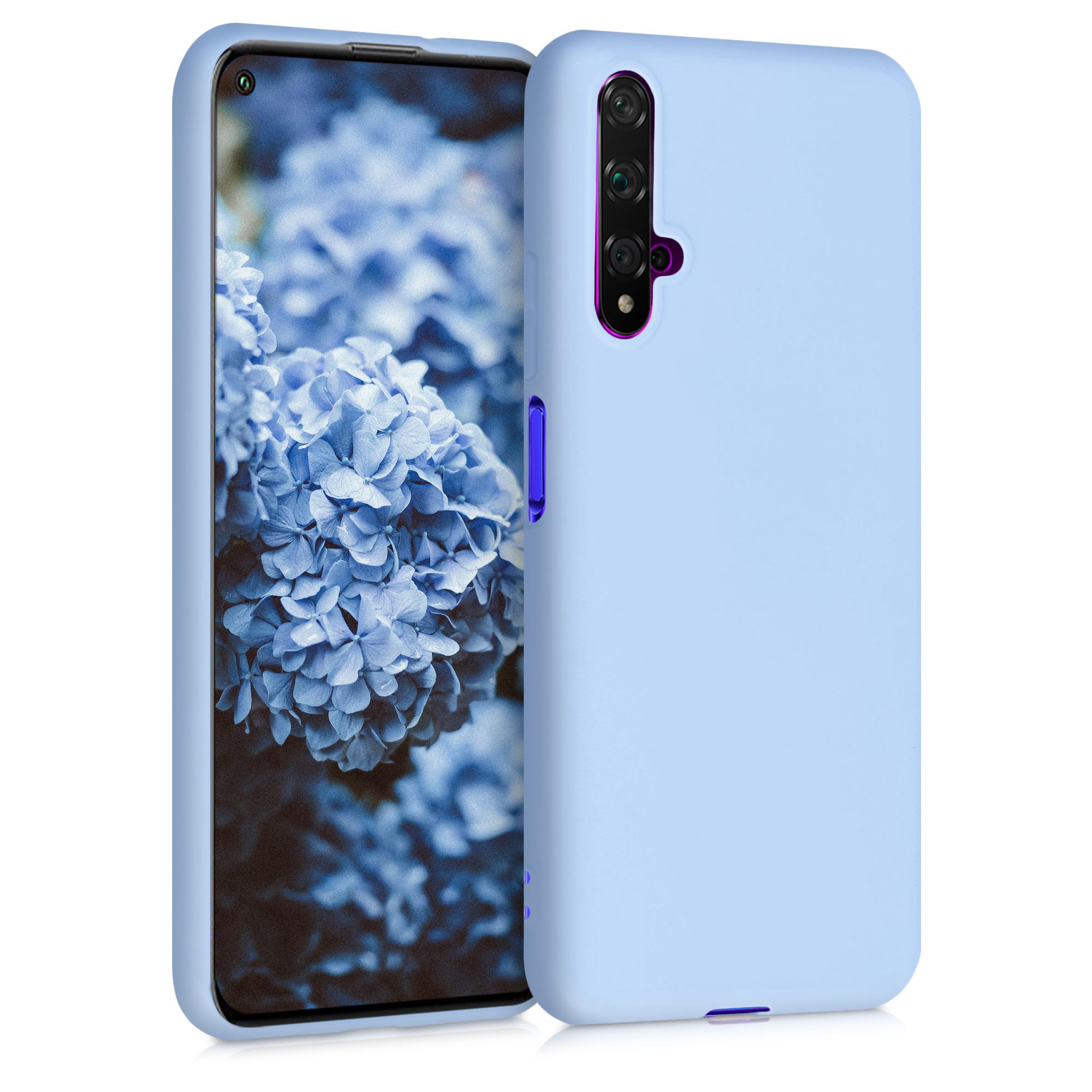 Světlo modré silikonové pouzdro / obal pro Huawei Nova 5T