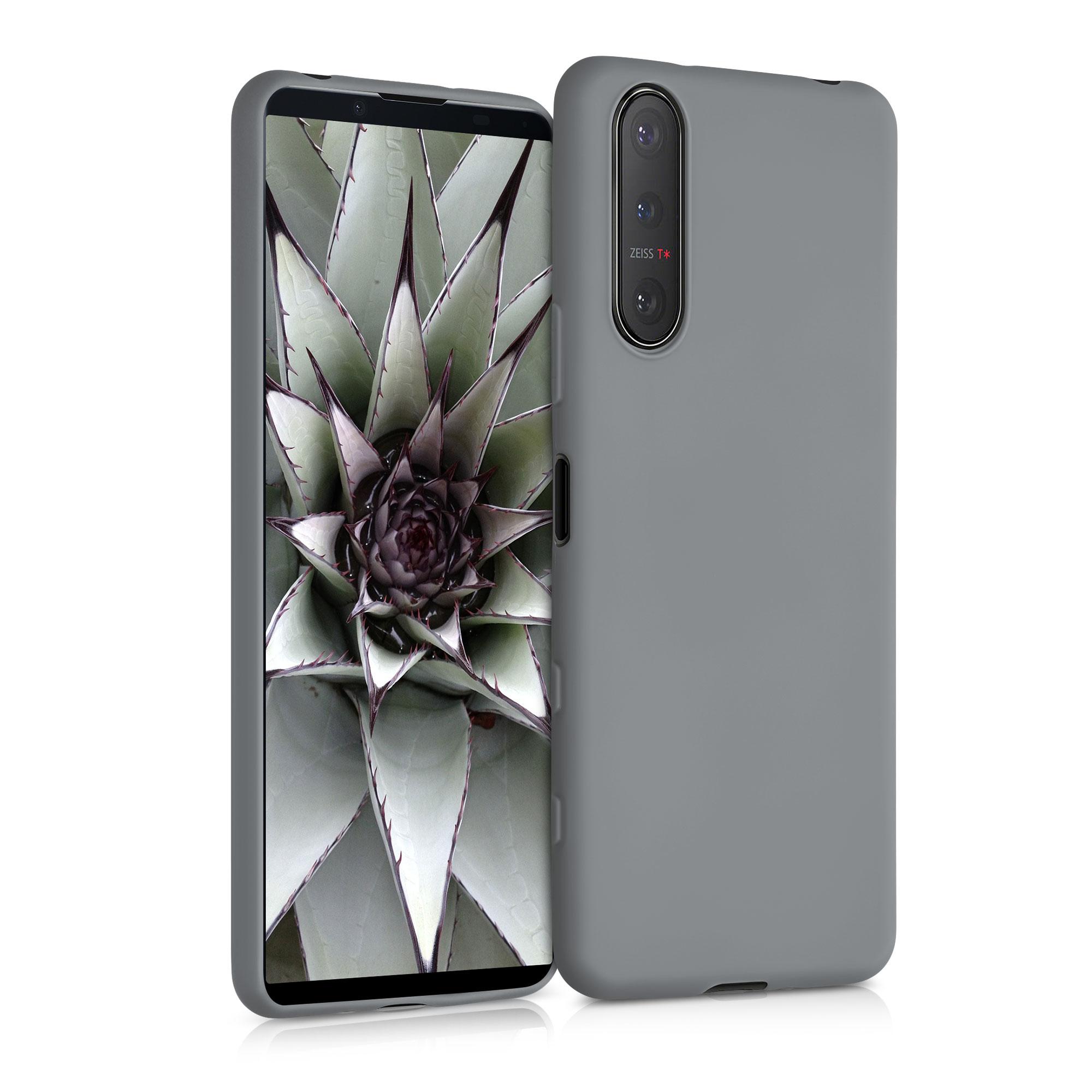 Kvalitní silikonové TPU pouzdro | obal pro Sony Xperia 5 II - titanově šedé