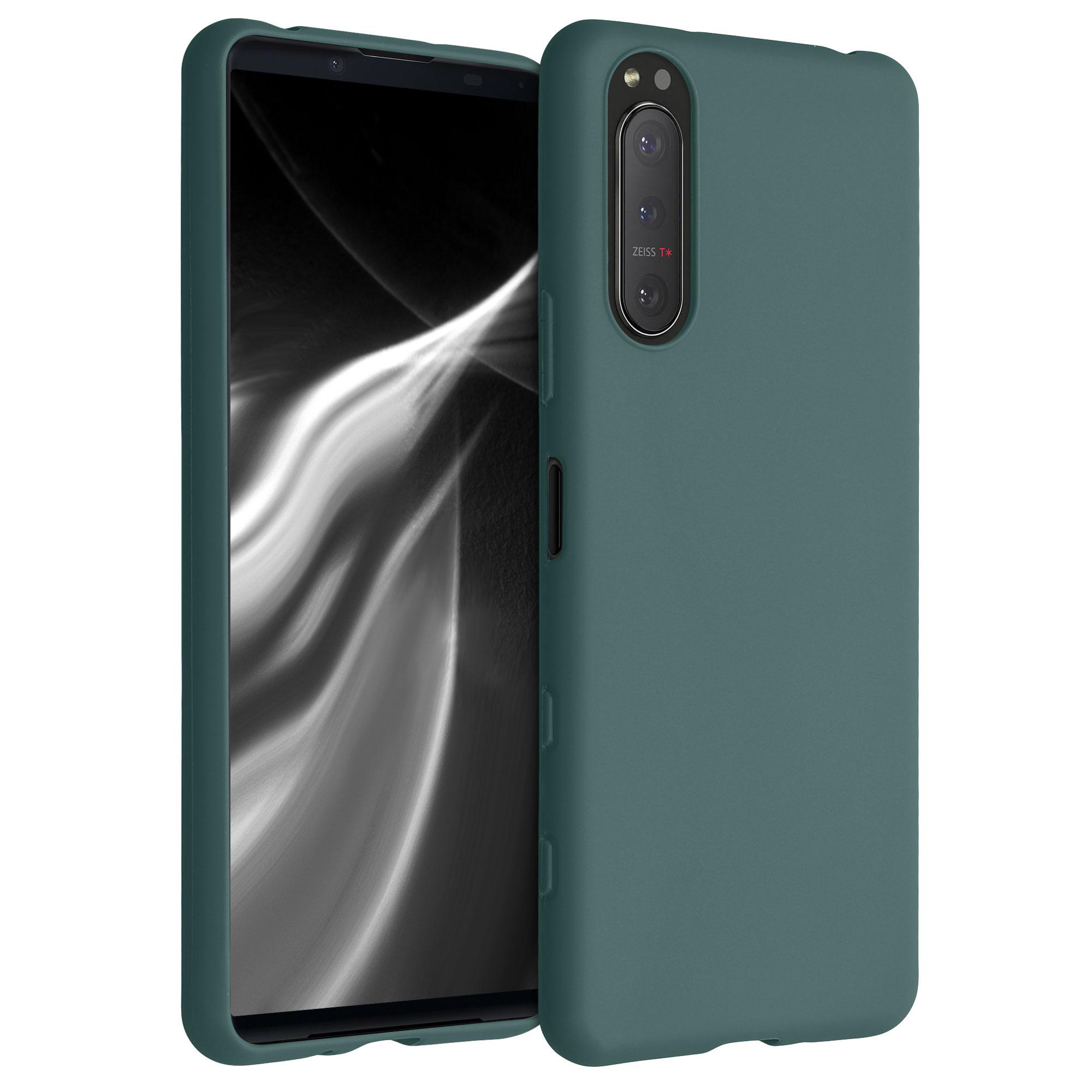Kvalitní silikonové TPU pouzdro | obal pro Sony Xperia 5 II - modré zelené