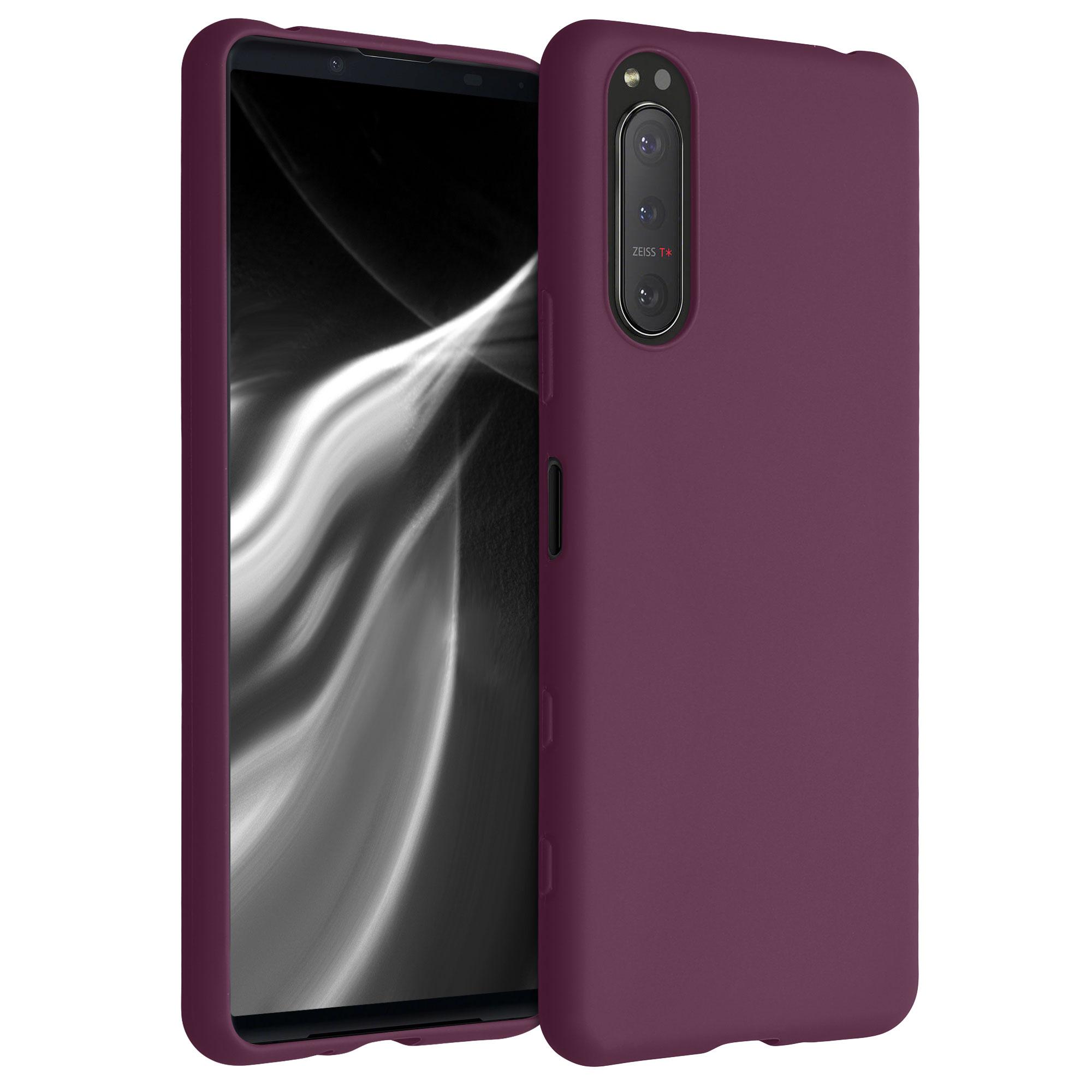 Kvalitní silikonové TPU pouzdro | obal pro Sony Xperia 5 II - červené fialové
