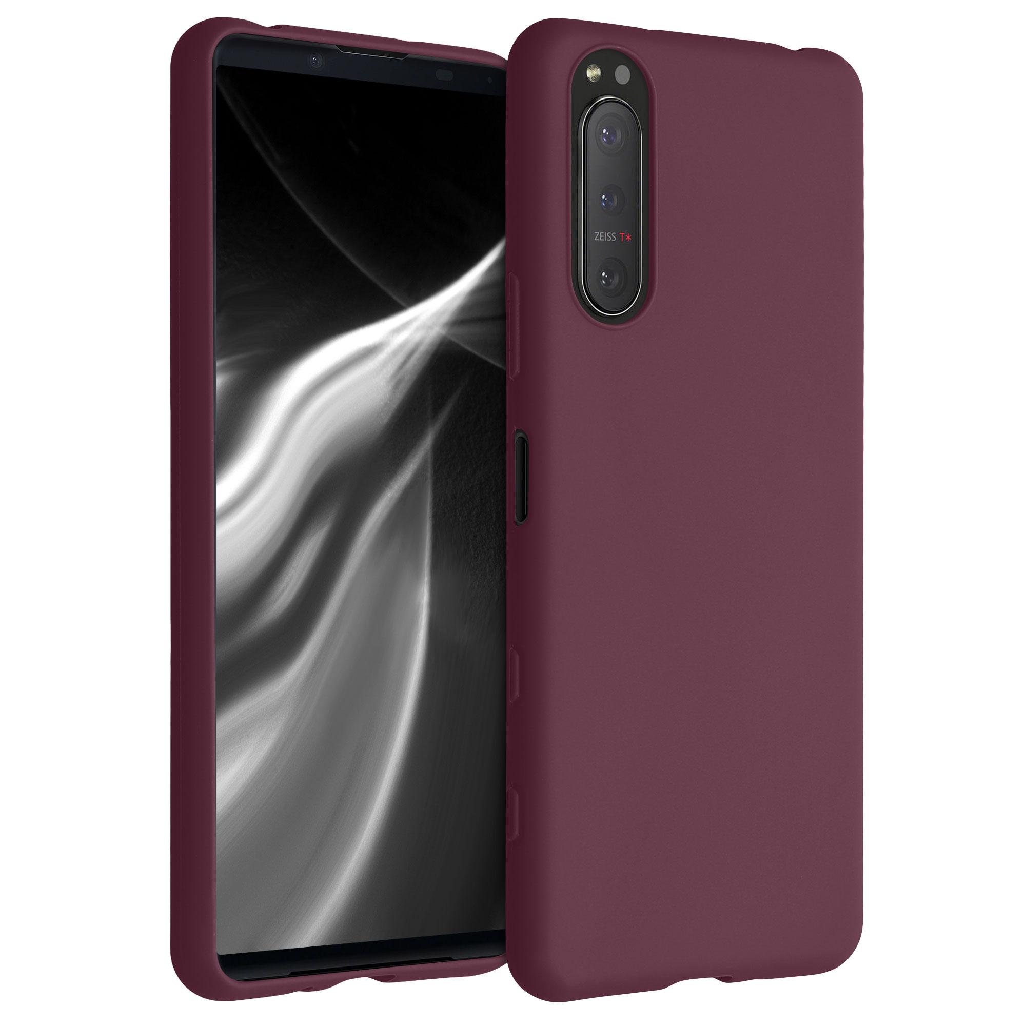 Kvalitní silikonové TPU pouzdro | obal pro Sony Xperia 5 II - Tawny červené