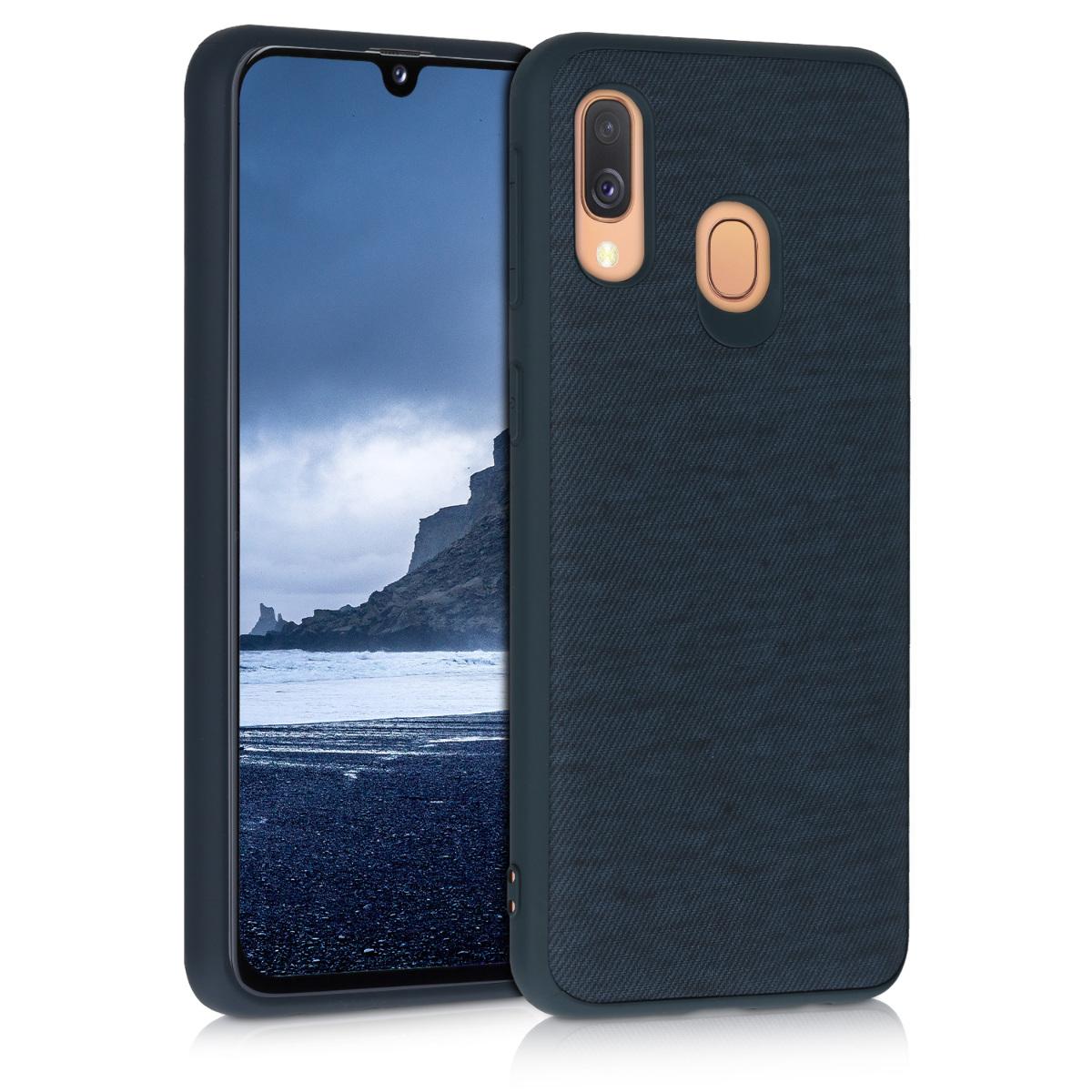 Fabricpouzdro pro Samsung A40 - tmavě modré