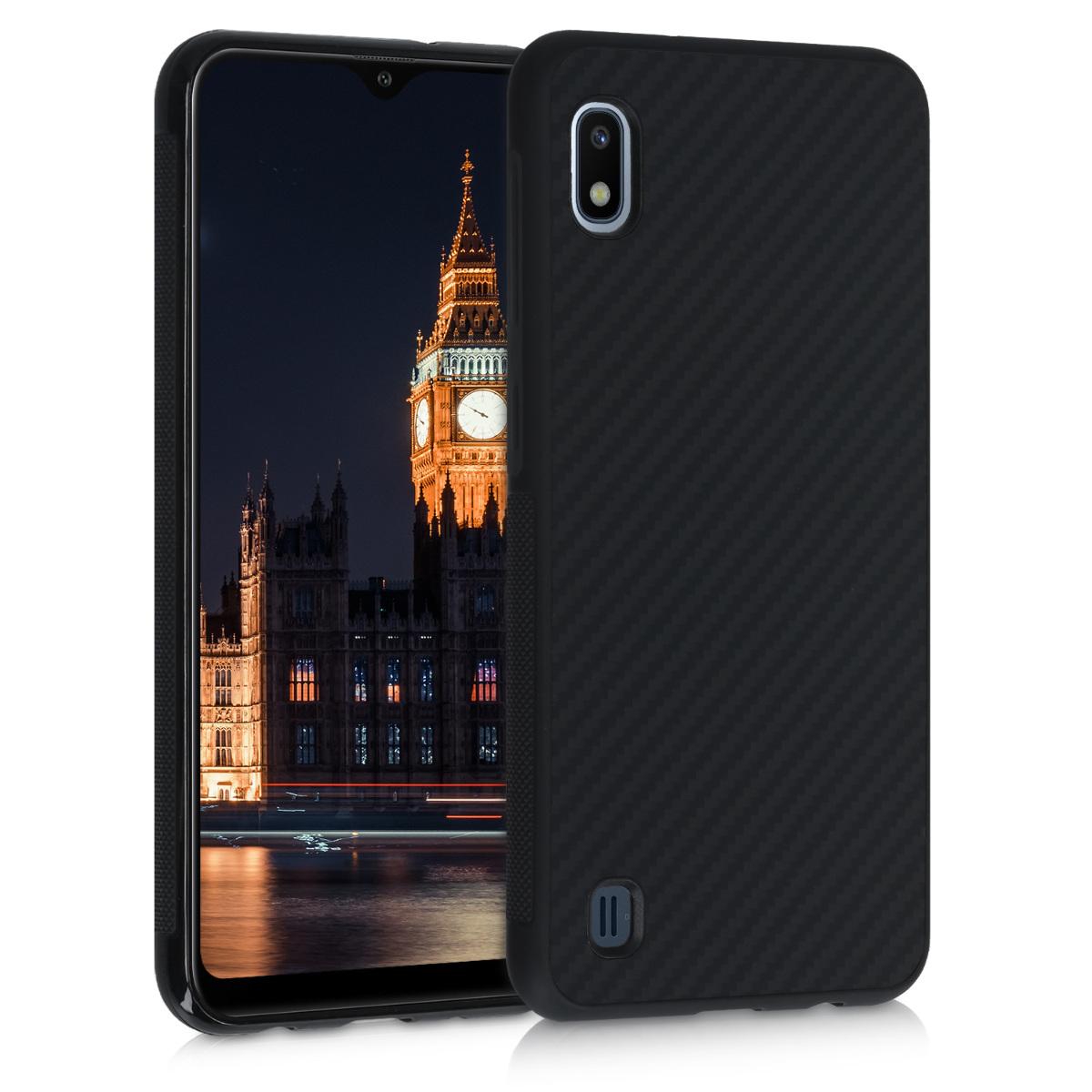 Aramidpouzdro pro Samsung A10 - černé matné