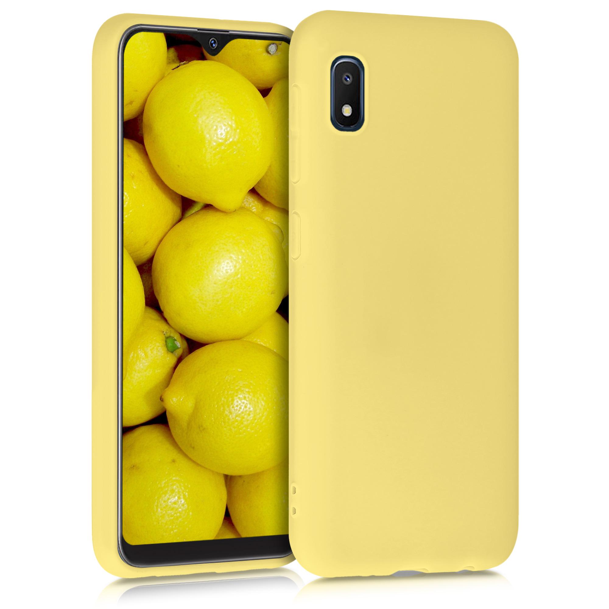 Kvalitní silikonové TPU pouzdro pro Samsung A10e - žluté matné