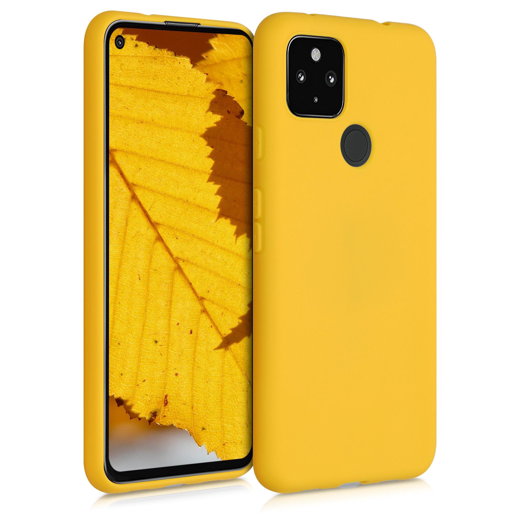 Kvalitní silikonové TPU pouzdro | obal pro Google Pixel 4a 5G - Medově žlutá