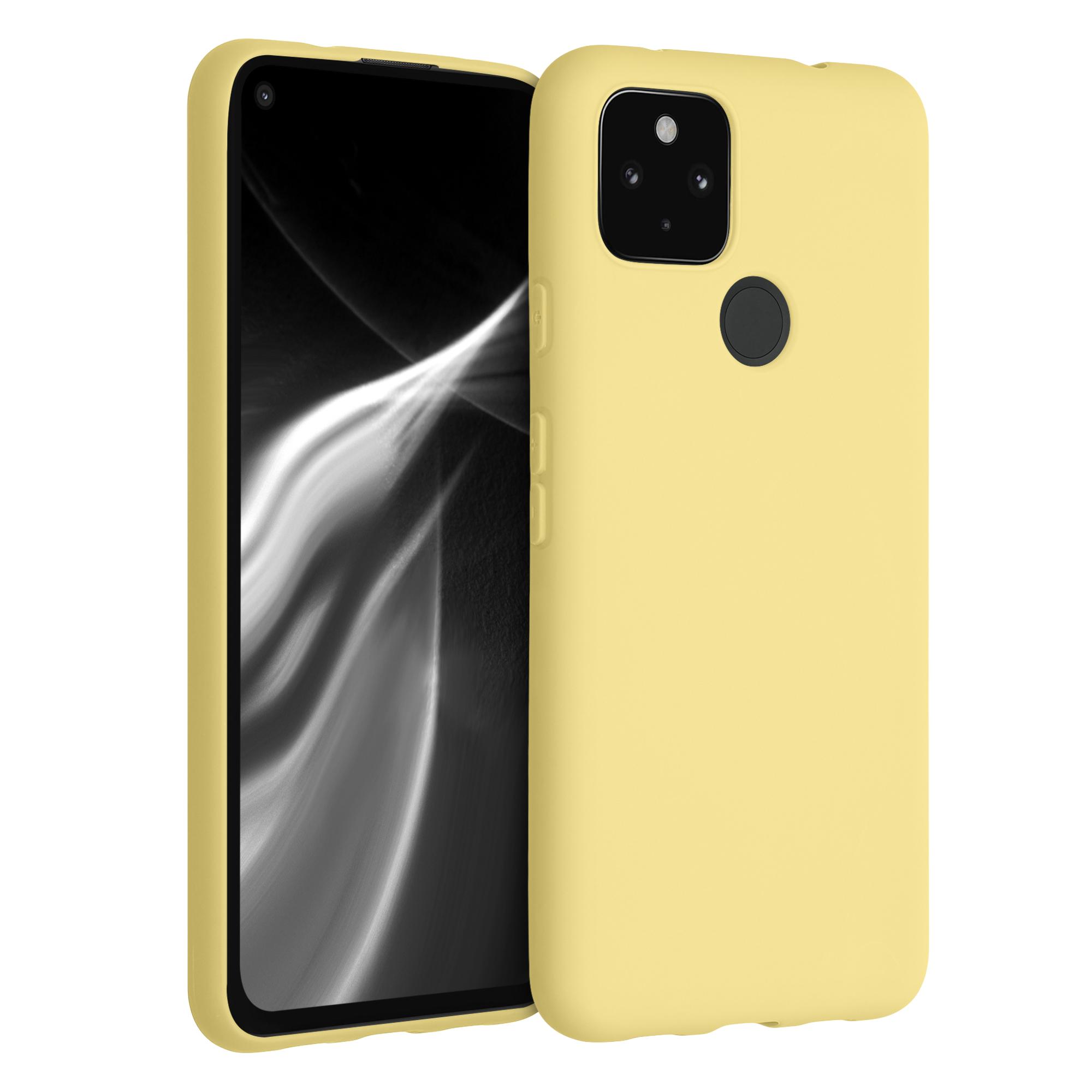 Kvalitní silikonové TPU pouzdro | obal pro Google Pixel 4a 5G - Mellow Yellow