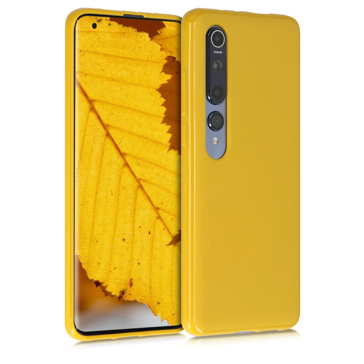 Tenké medově žluté silikonové pouzdro / obal pro Xiaomi Mi 10 / Mi 10 Pro
