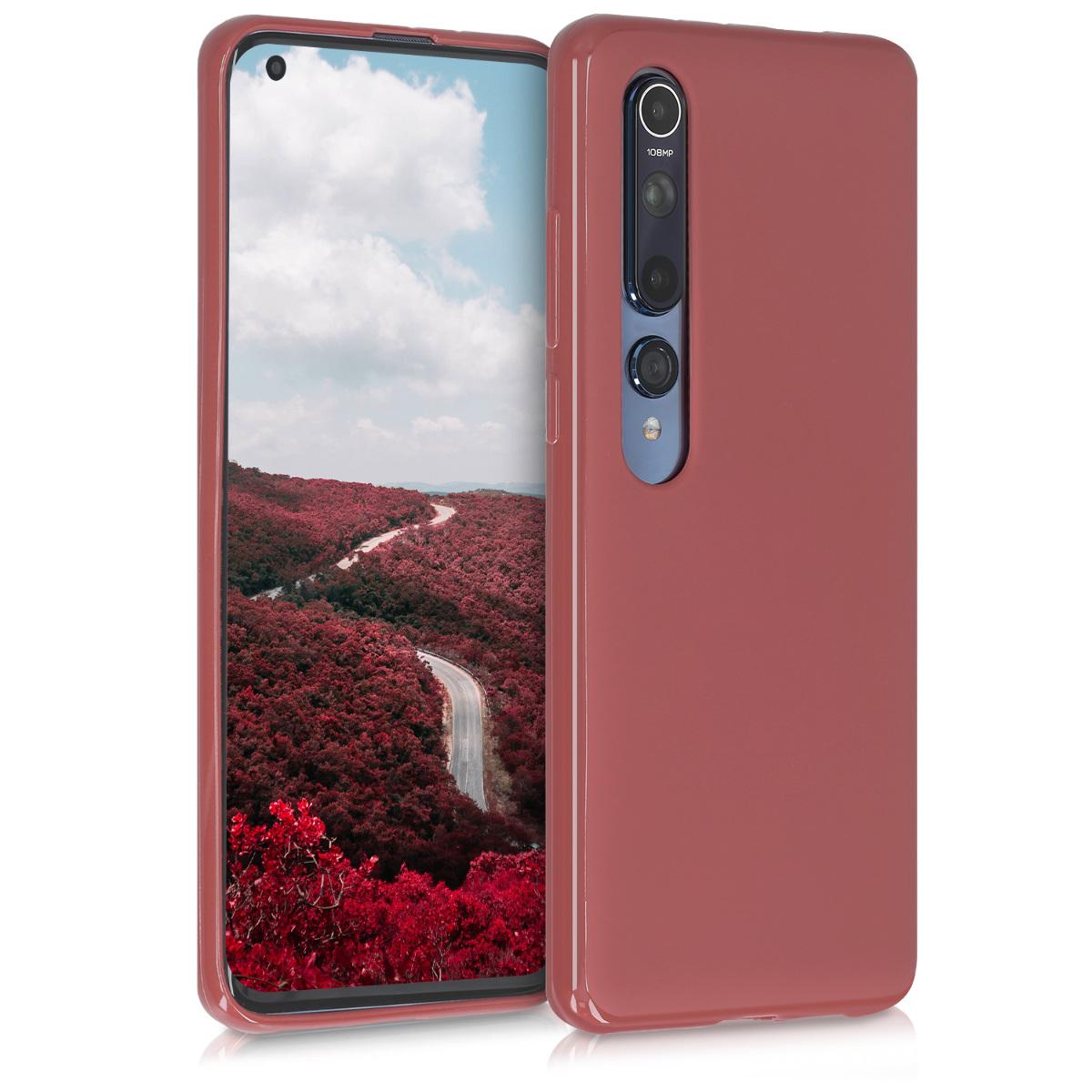Tenké kaštanově červené silikonové pouzdro / obal pro Xiaomi Mi 10 / Mi 10 Pro