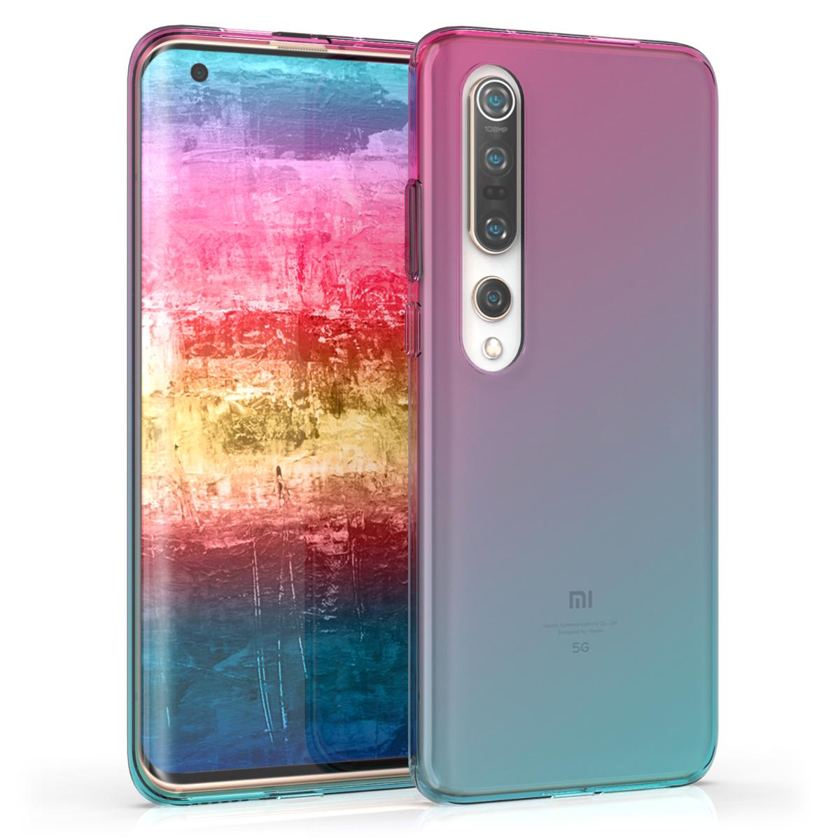 Dvoubarevné modré růžové silikonové pouzdro / obal pro Xiaomi Mi 10 / Mi 10 Pro