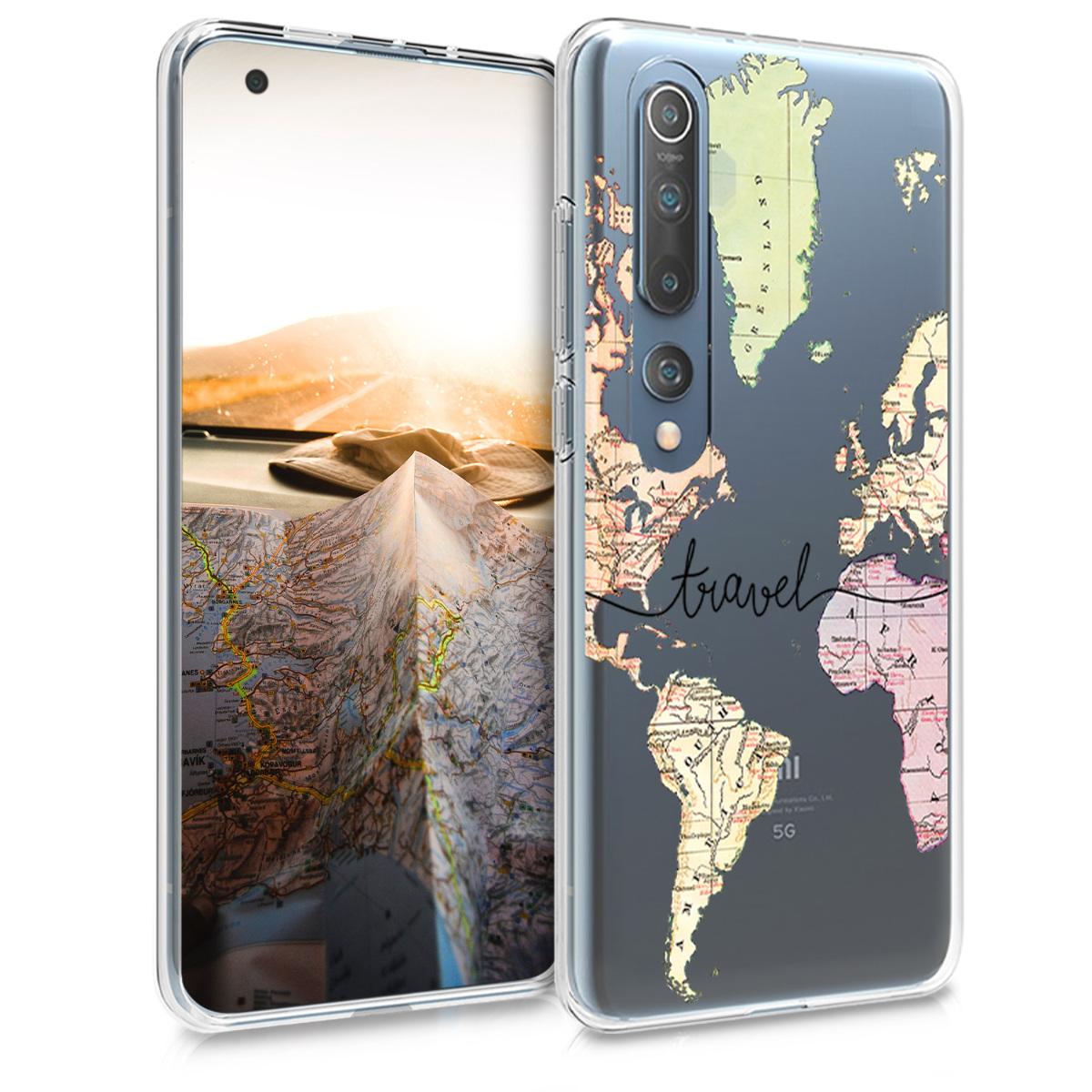 Silikonové pouzdro / obal s barevnou mapou světa pro Xiaomi Mi 10 / Mi 10 Pro