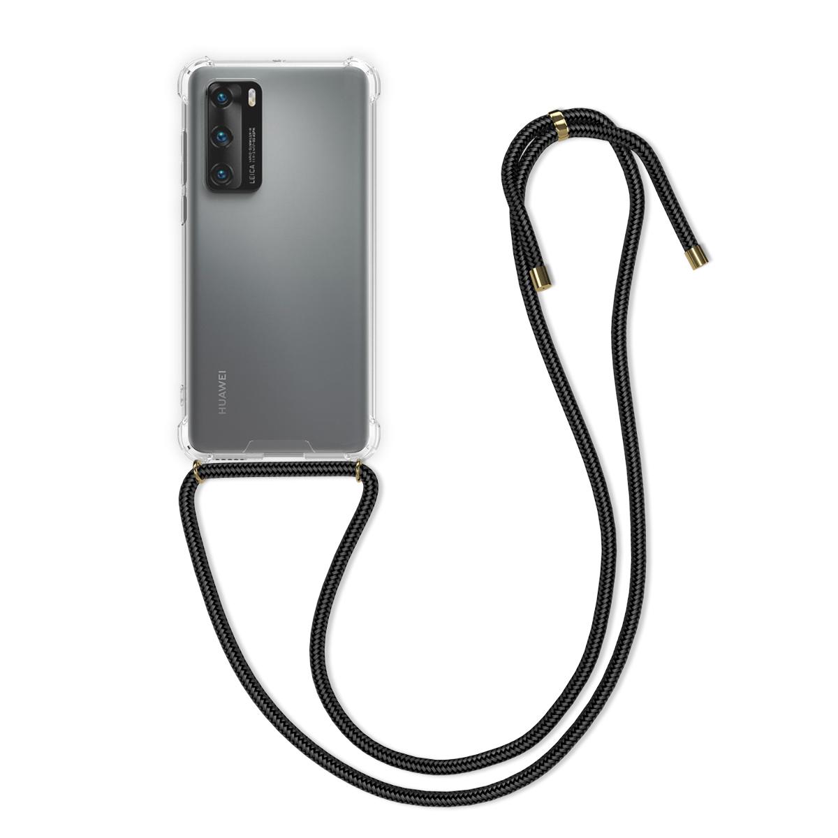 Průhledné silikonové pouzdro / obal kolem krku pro Huawei P40
